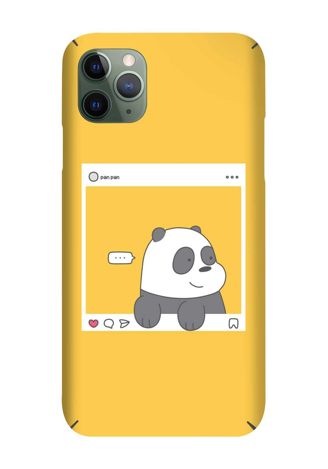 Protective Cover For Iphone 11  - Yellow حافظة موبايل