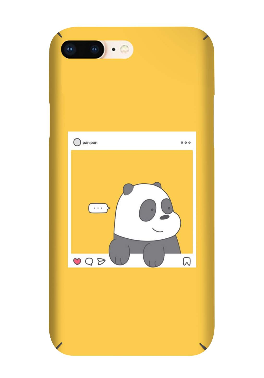 Protective Cover For Iphone 7 Plus - Yellow حافظة موبايل