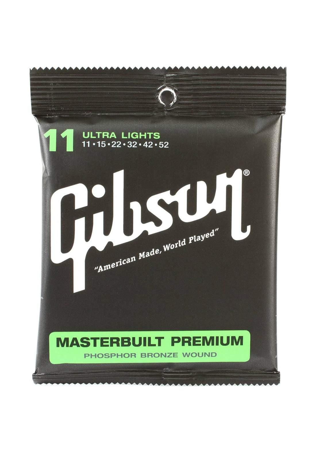 Gibson Acoustic Guitar Strings Phosphor Bronze -اوتار جيتار اكوستك