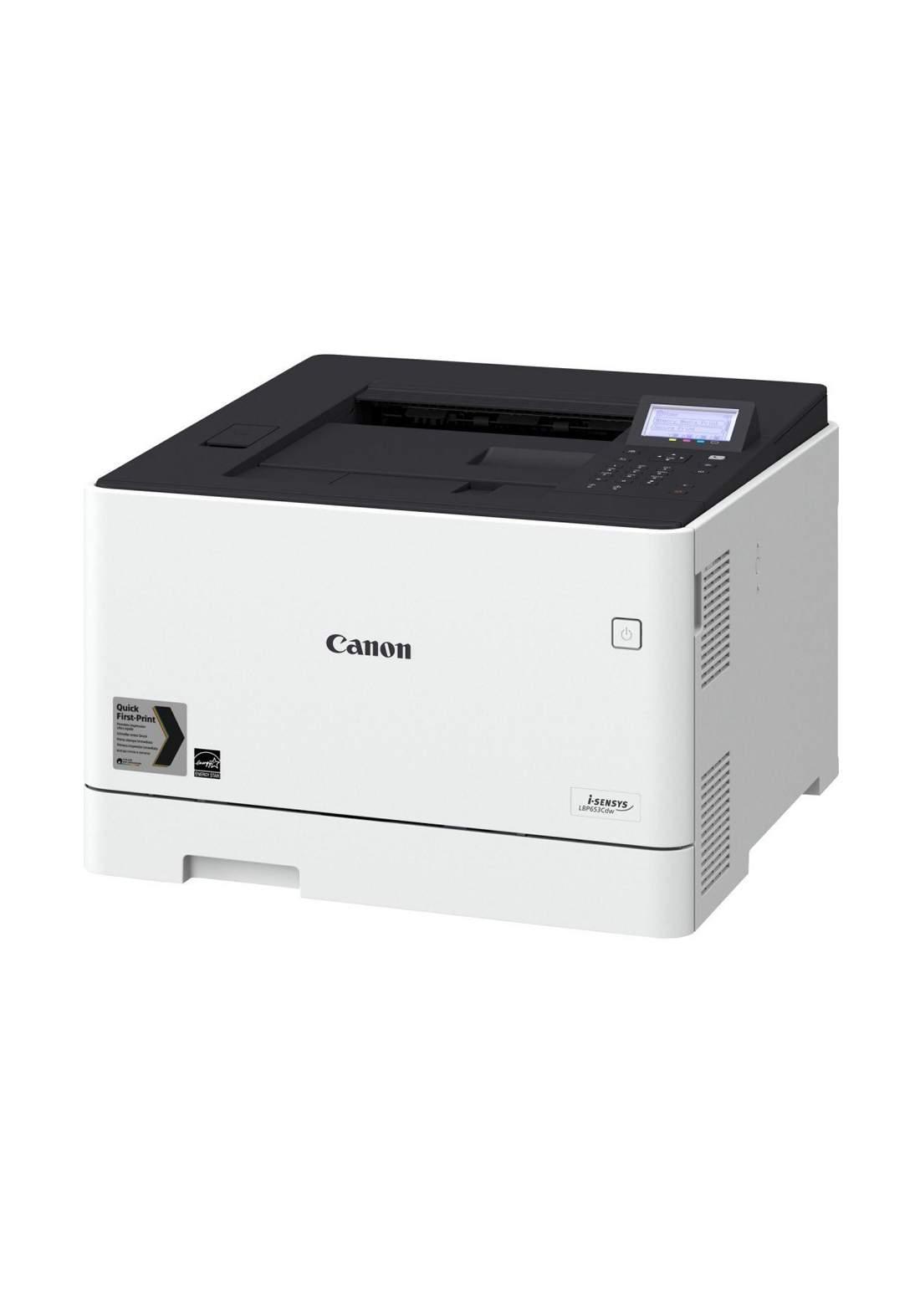 Canon i-SENSYS LBP653Cdw color laser printer - White  طابعة