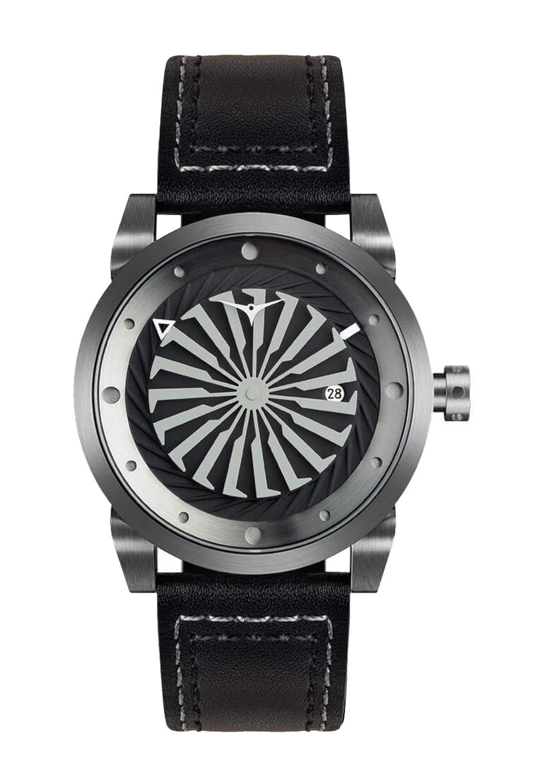 Zinvo Rival Gunmetal Watch For Men - Black  ساعة رجالي