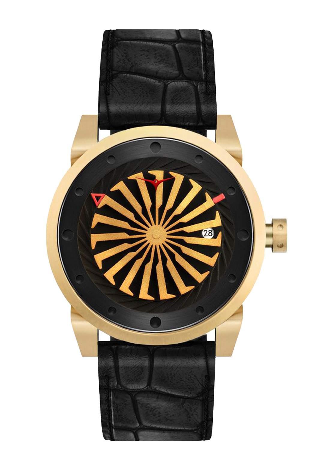 Zinvo Rival Onyx Watch For Men - Black  ساعة رجالي