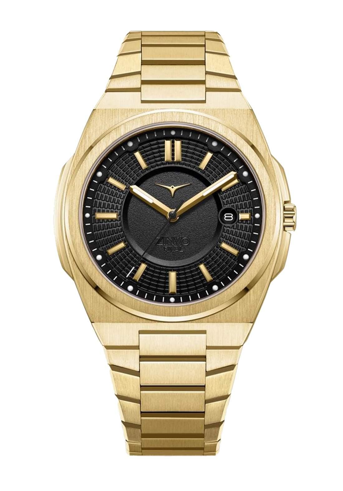 Zinvo Rival Watch For Men - Gold  ساعة رجالي
