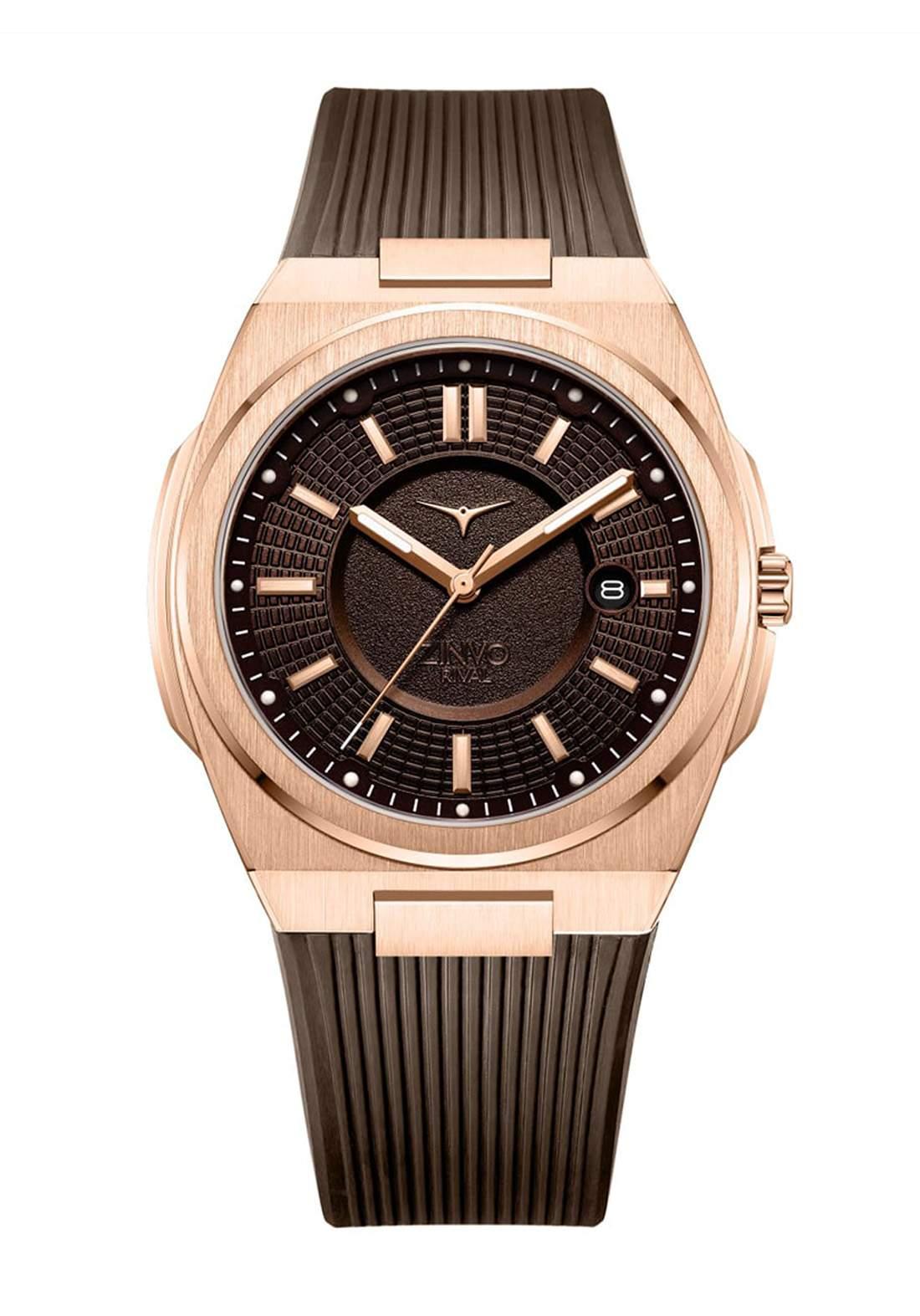 Zinvo Rival Rose Gold Watch For Men  ساعة رجالي