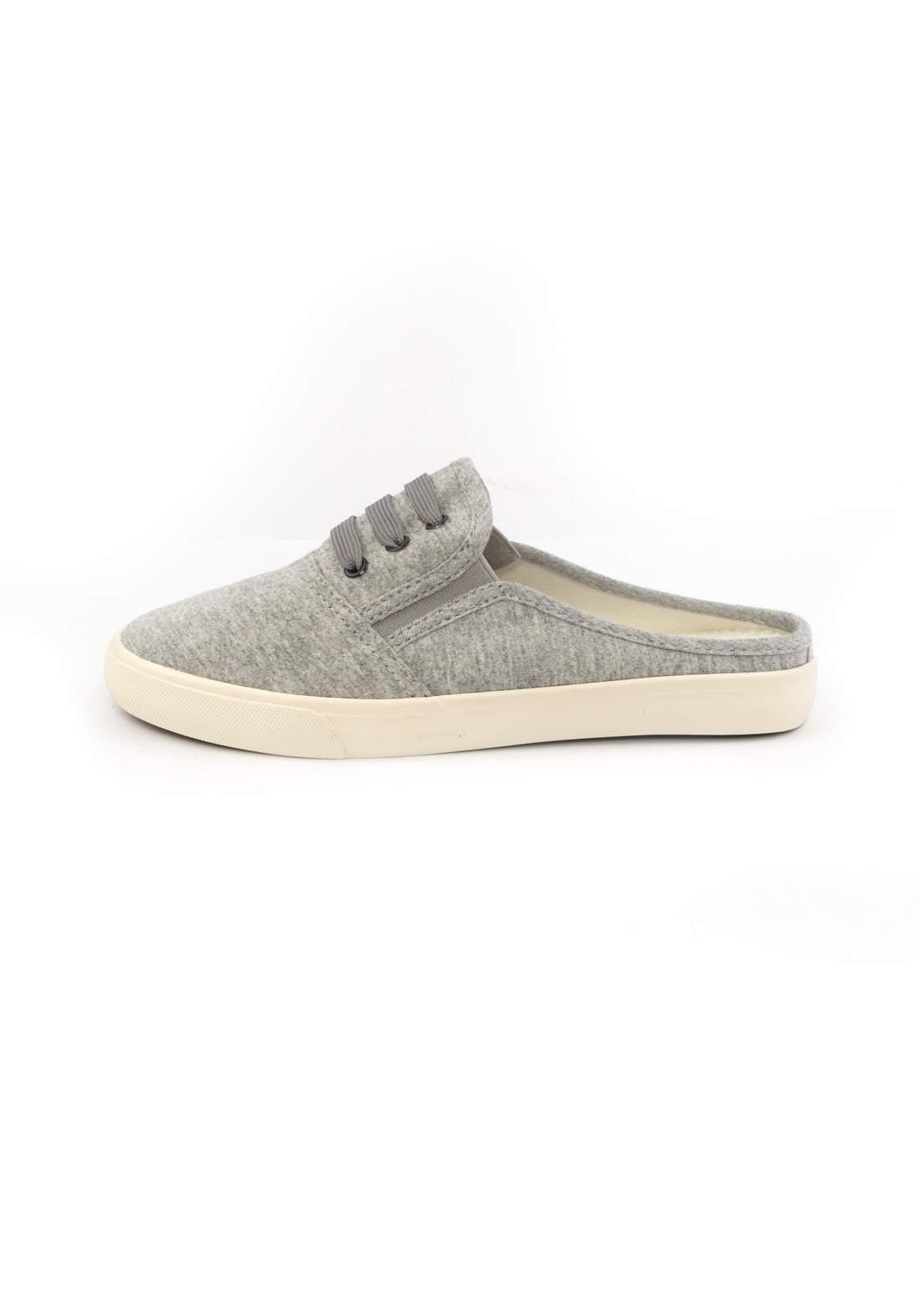 حذاء نسائي قماش رصاصي اللون