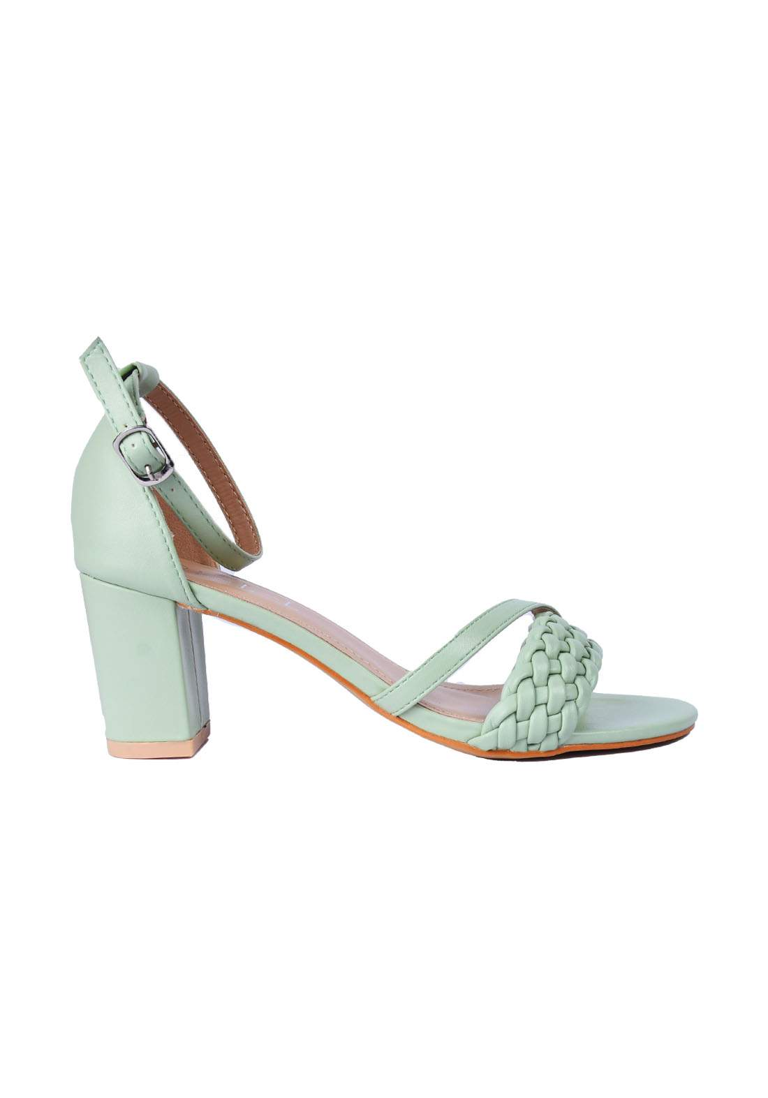 حذاء نسائي كعب 7 سم اخضر اللون