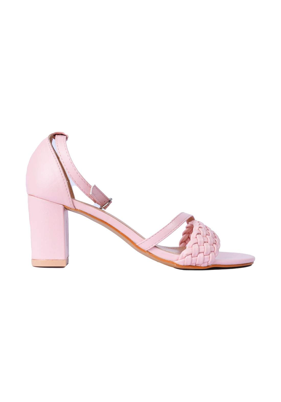 حذاء نسائي كعب 7 سم وردي اللون