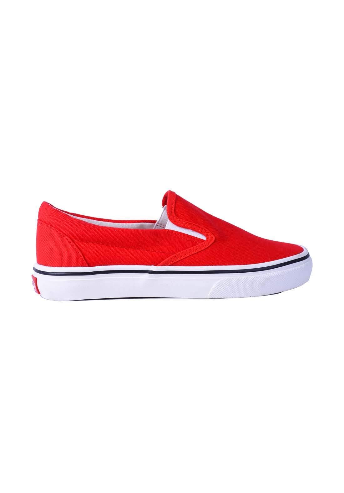 حذاء نسائي قماش احمر اللون