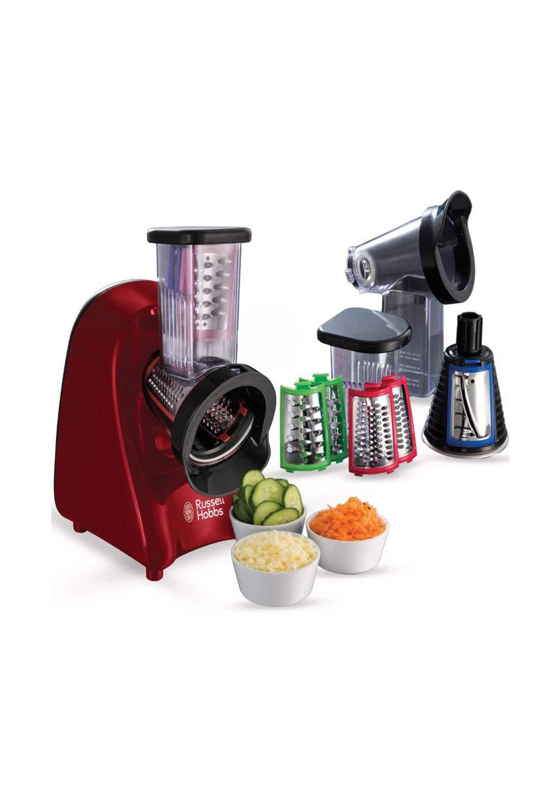 Russell hobbs 22280 Desire Food Slicer, Shredder & Grater أداة كهربائية للتقطيع وصنع الآيس كريم
