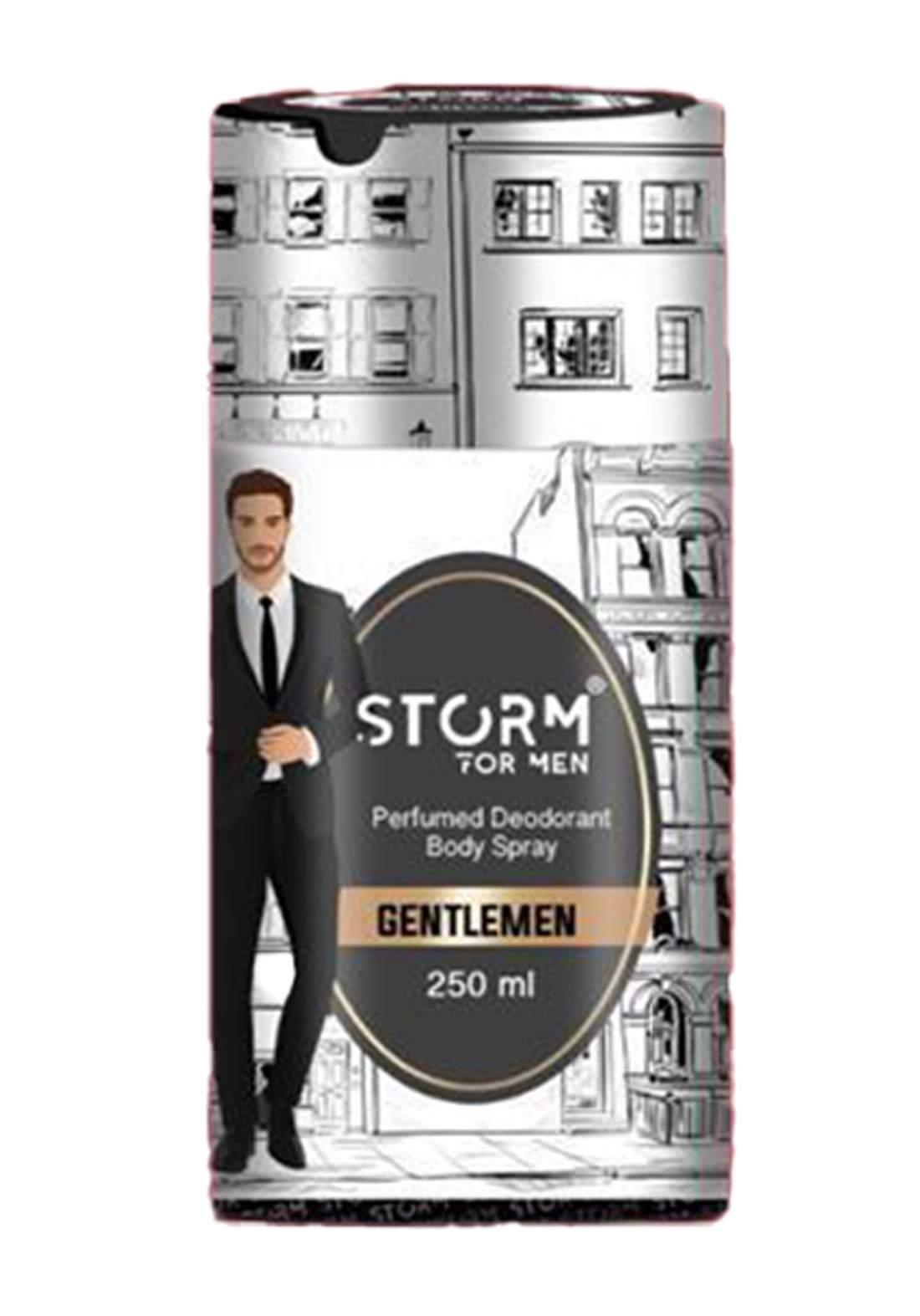 Storm Perfumed Deodorant Body Spray For Men-Gentlemen 250ml معطر جسم رجالي