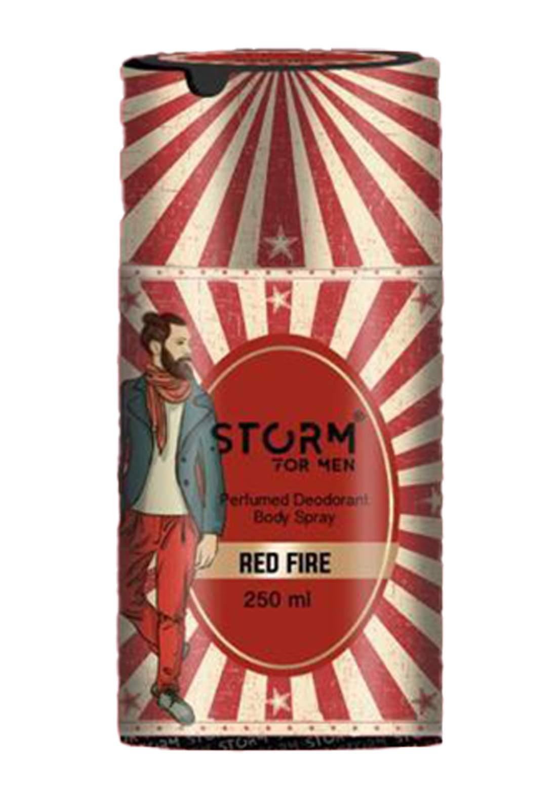 Storm Perfumed Deodorant Body Spray For Men-Red Fire 250ml معطر جسم رجالي