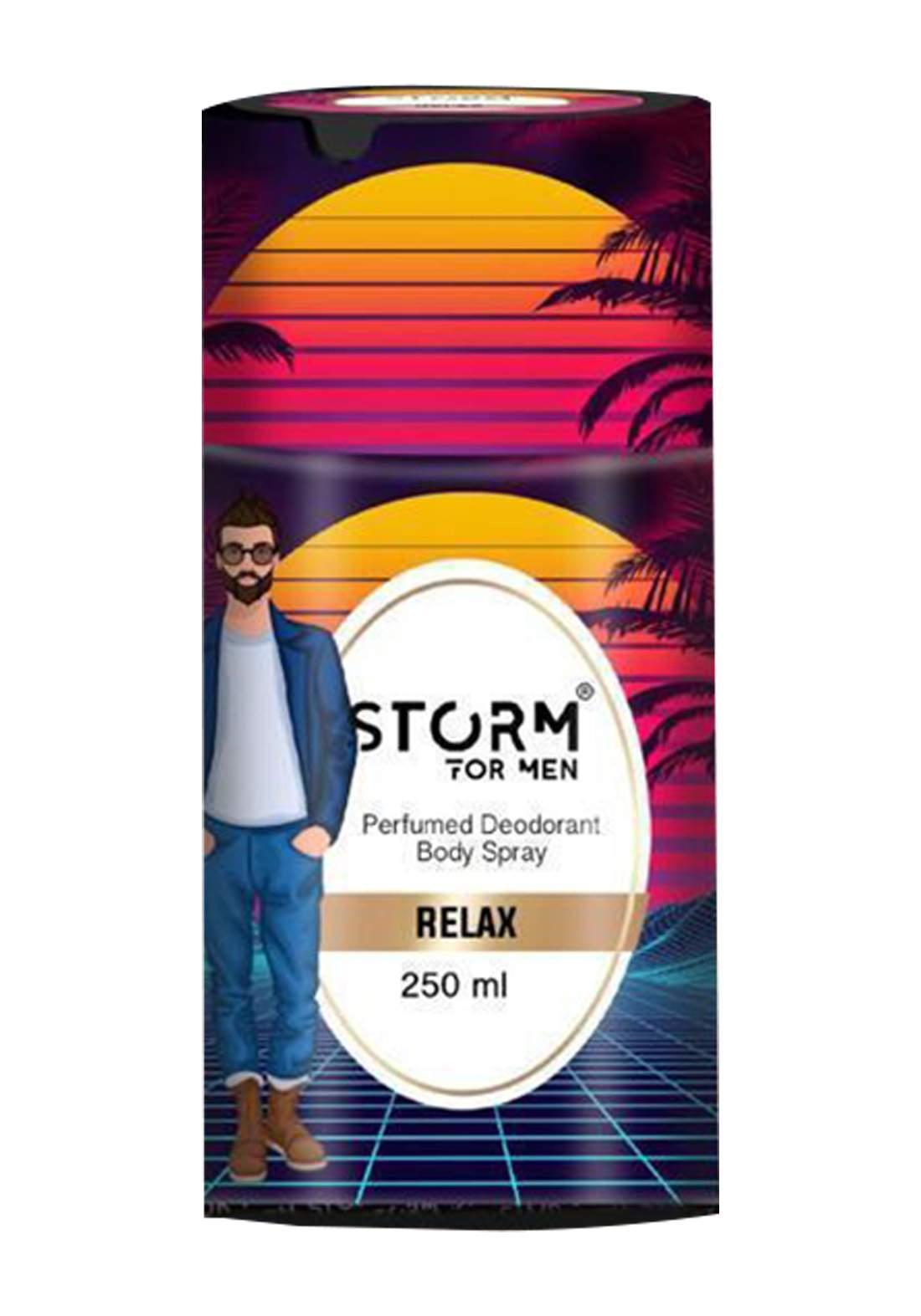 Storm Perfumed Deodorant Body Spray For Men-Relax 250ml معطر جسم رجالي