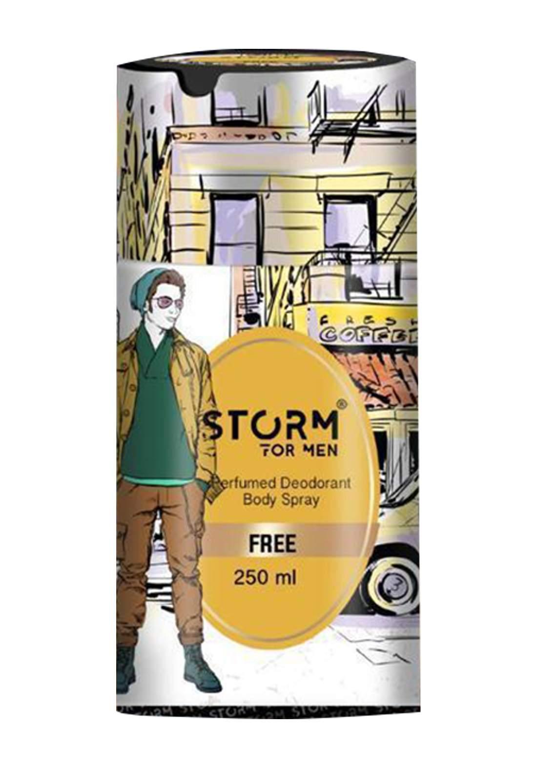 Storm Perfumed Deodorant Body Spray For Men-Free 250ml معطر جسم رجالي