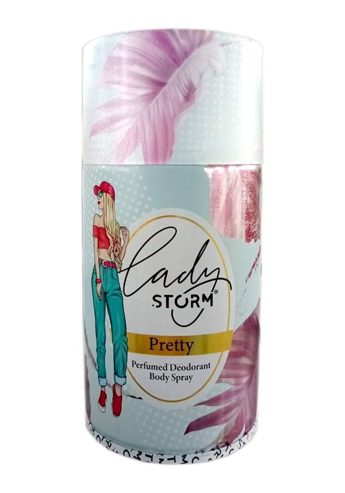 Storm Lady Perfumed Deodorant Body Spray -Pretty 250ml  مزيل العرق للنساء