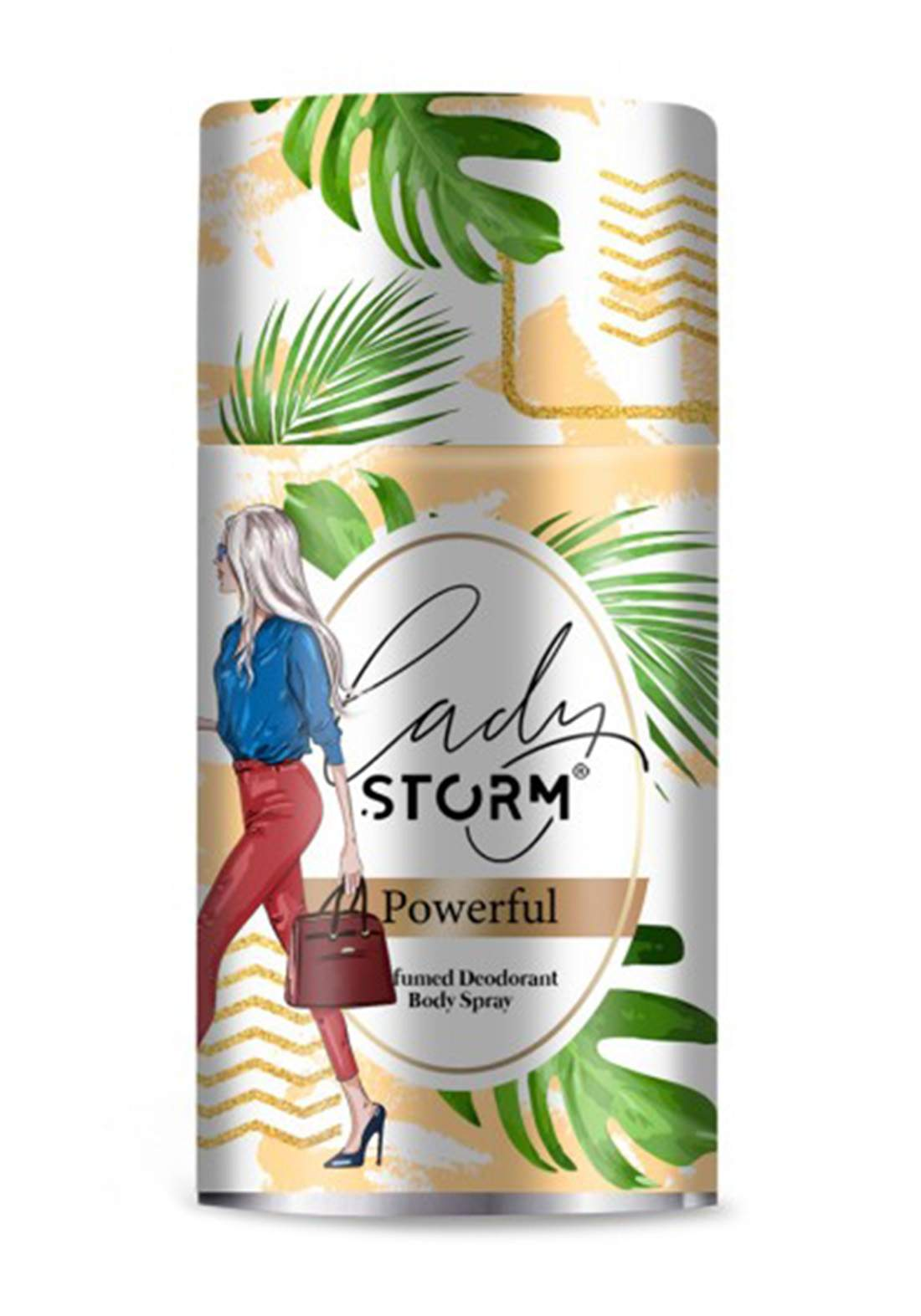 Storm Lady Perfumed Deodorant Body Spray -Pweful 250ml  مزيل العرق للنساء