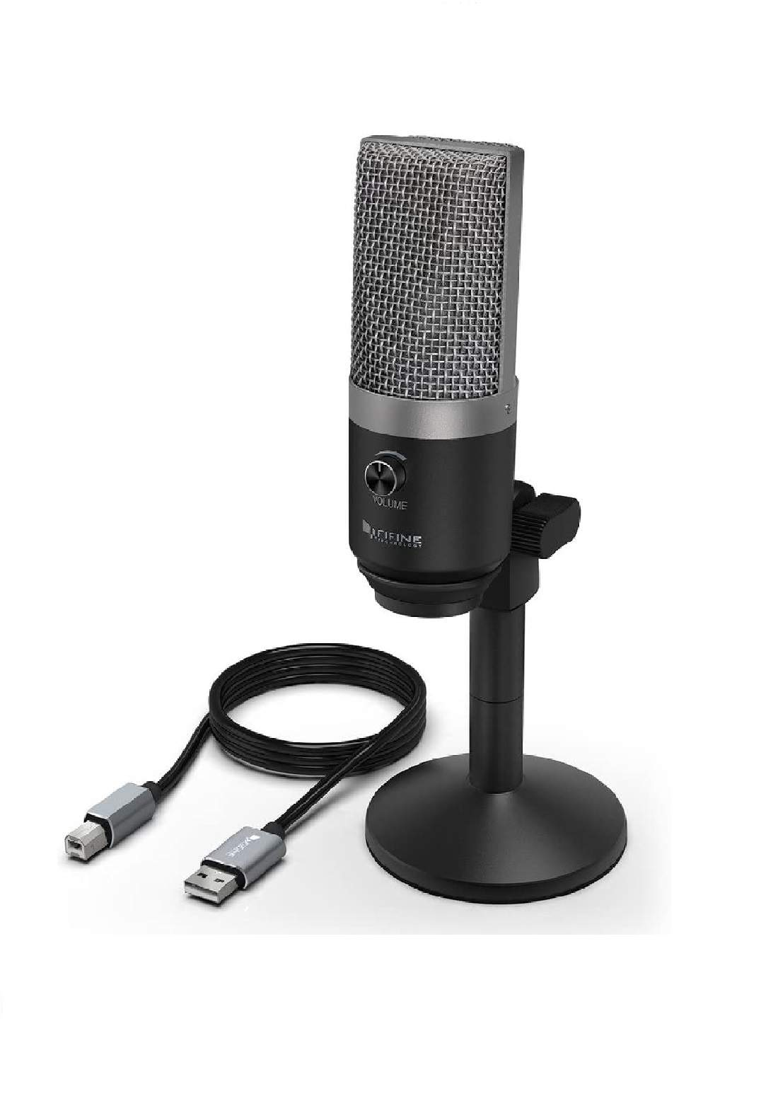 Fifine K670 USB Microphone for Computers Recording -Black- ميكرفون