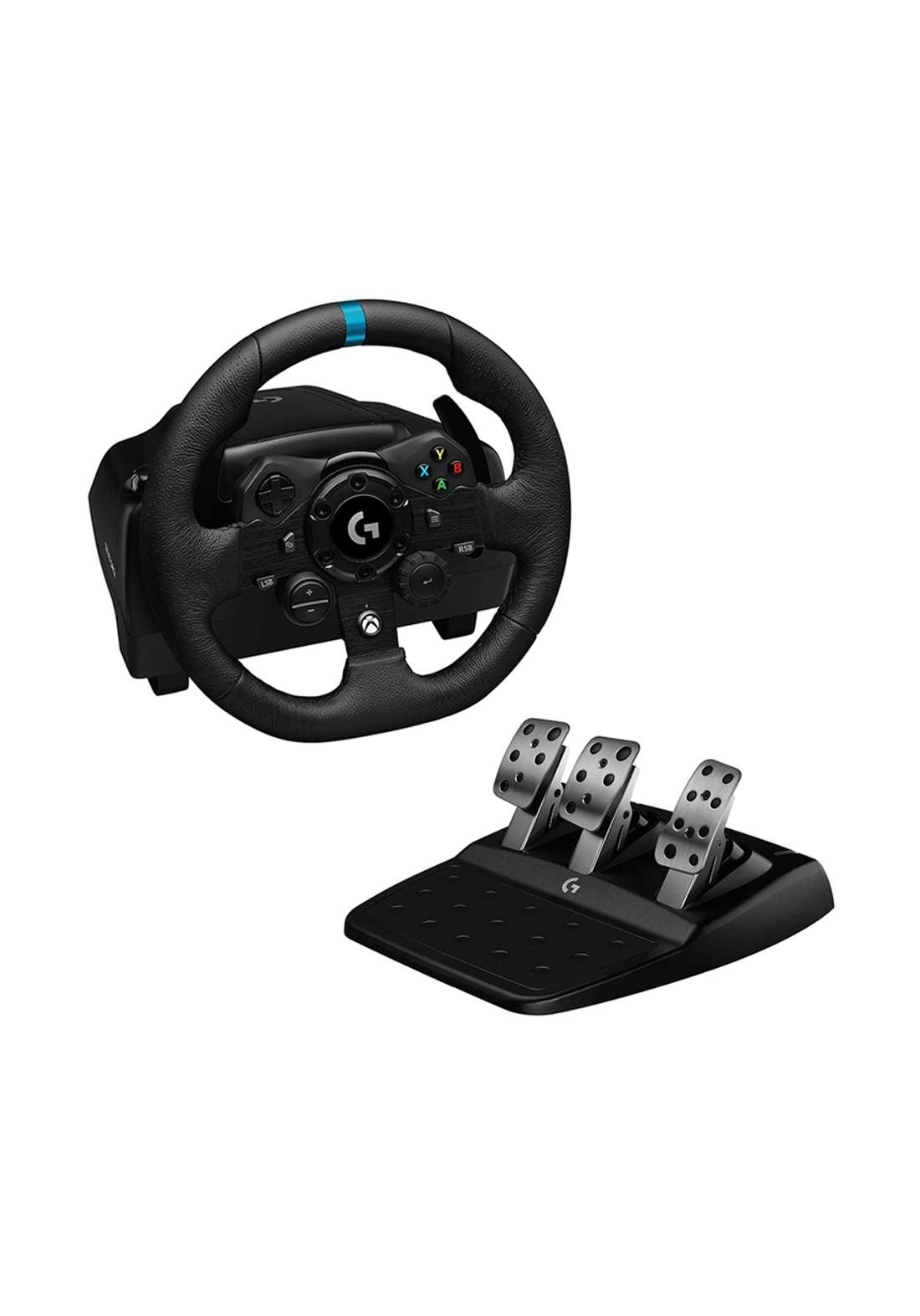 Logitech G923 Racing Wheel and Pedals for Xbox - Black