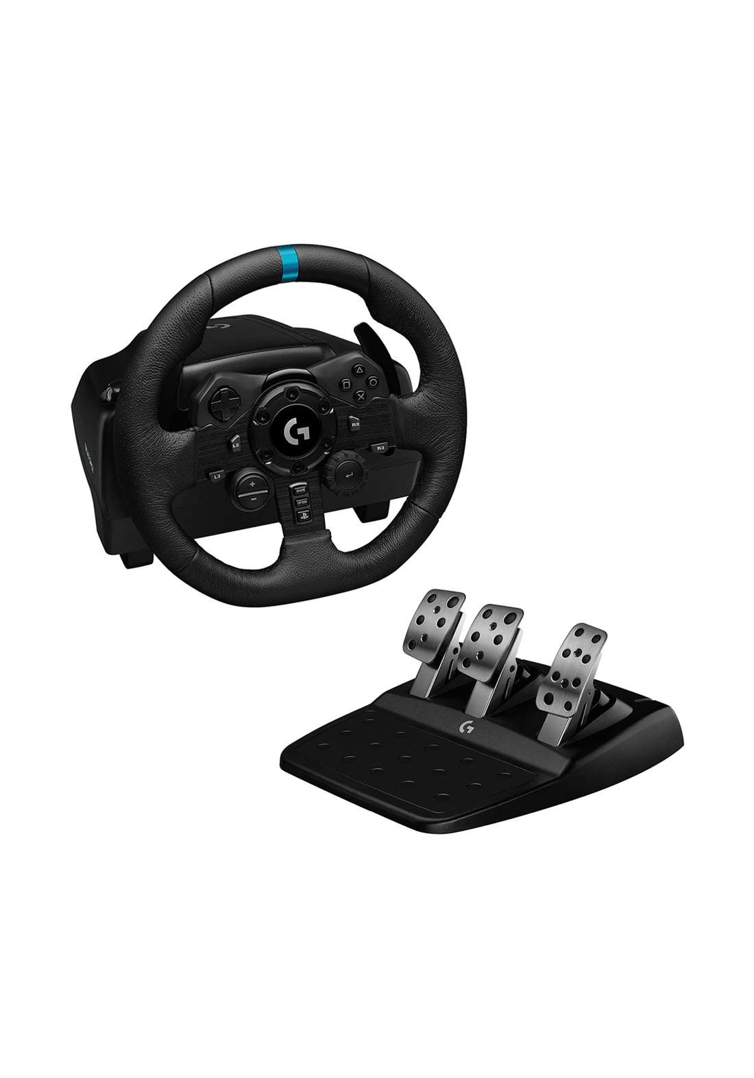 Logitech G923 Racing Wheel and Pedals for PS 5- PS4 and PC - Black