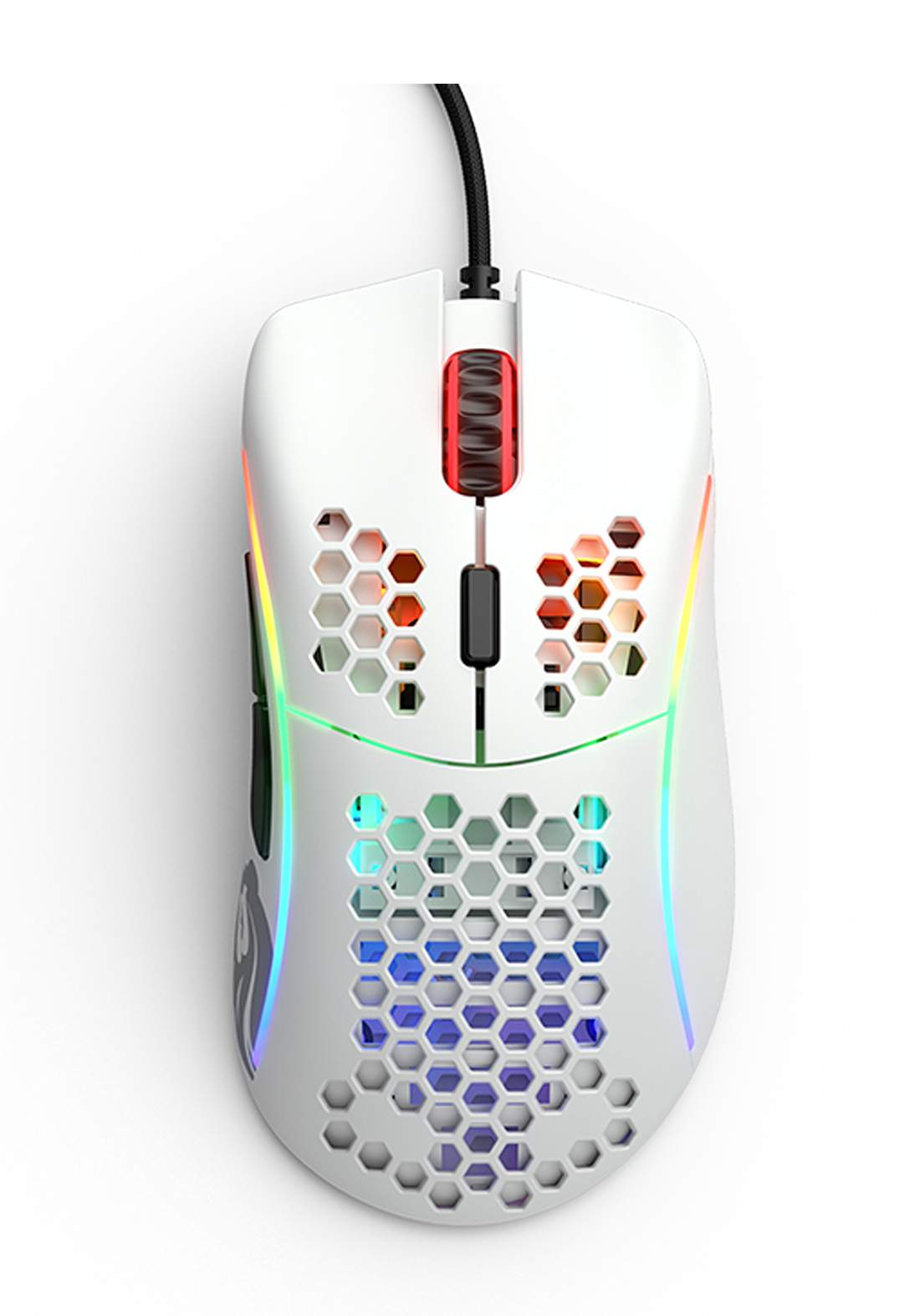 Glorious Model D Matte White Gaming Mouse