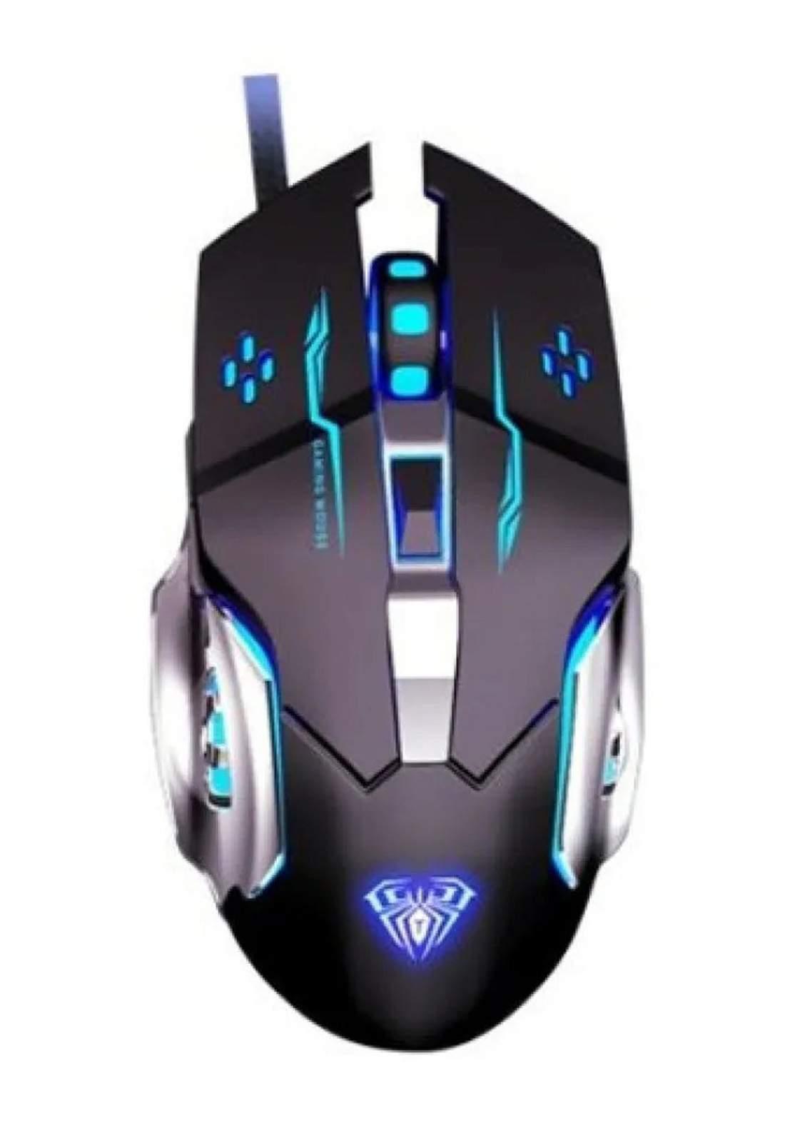 Aula S20 Programmable Ergonomic Optical Gaming Mouse - Black ماوس