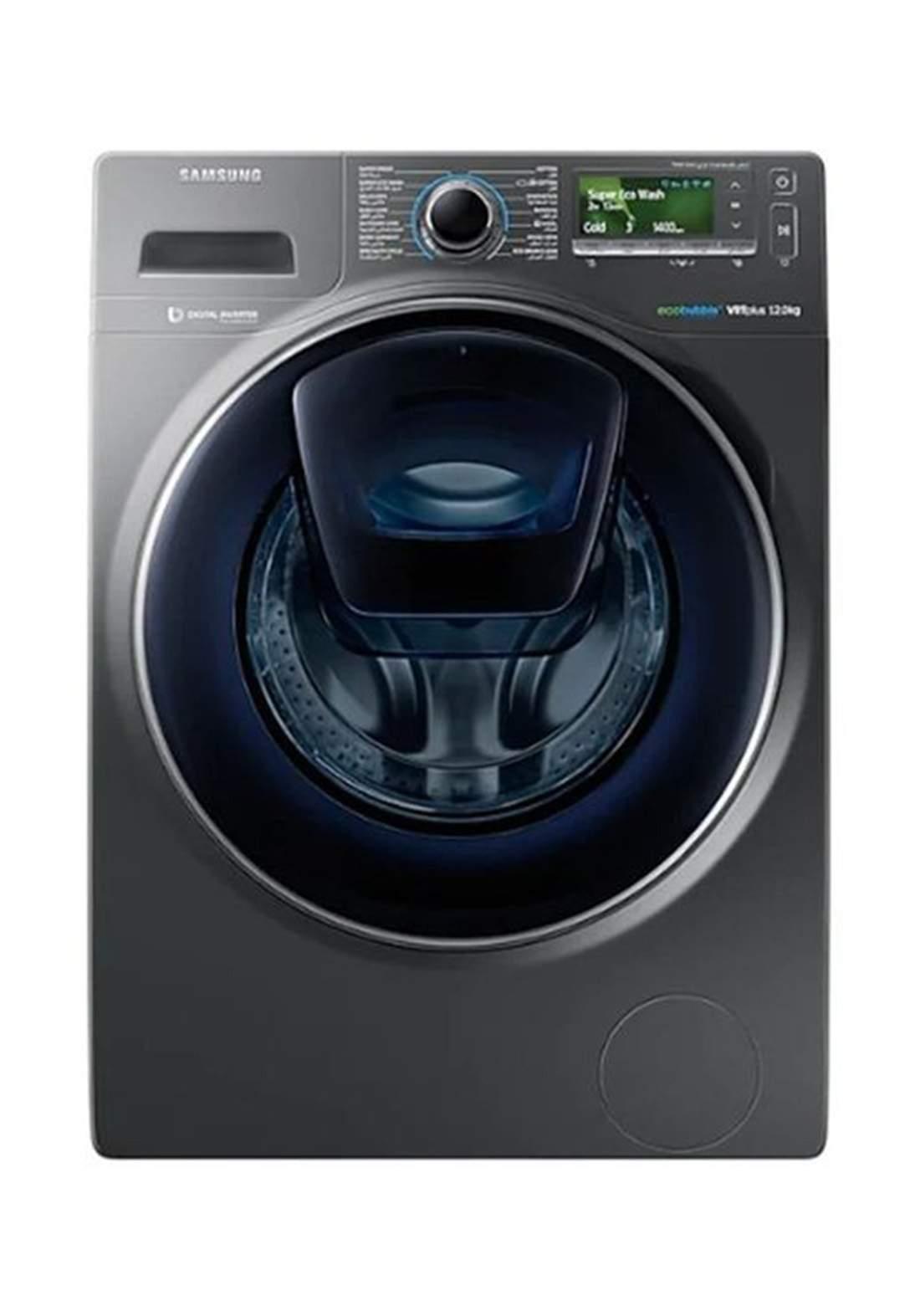 Samsung WW12K8412OX Front Loading Washing Machine -Gray غسالة ملابس
