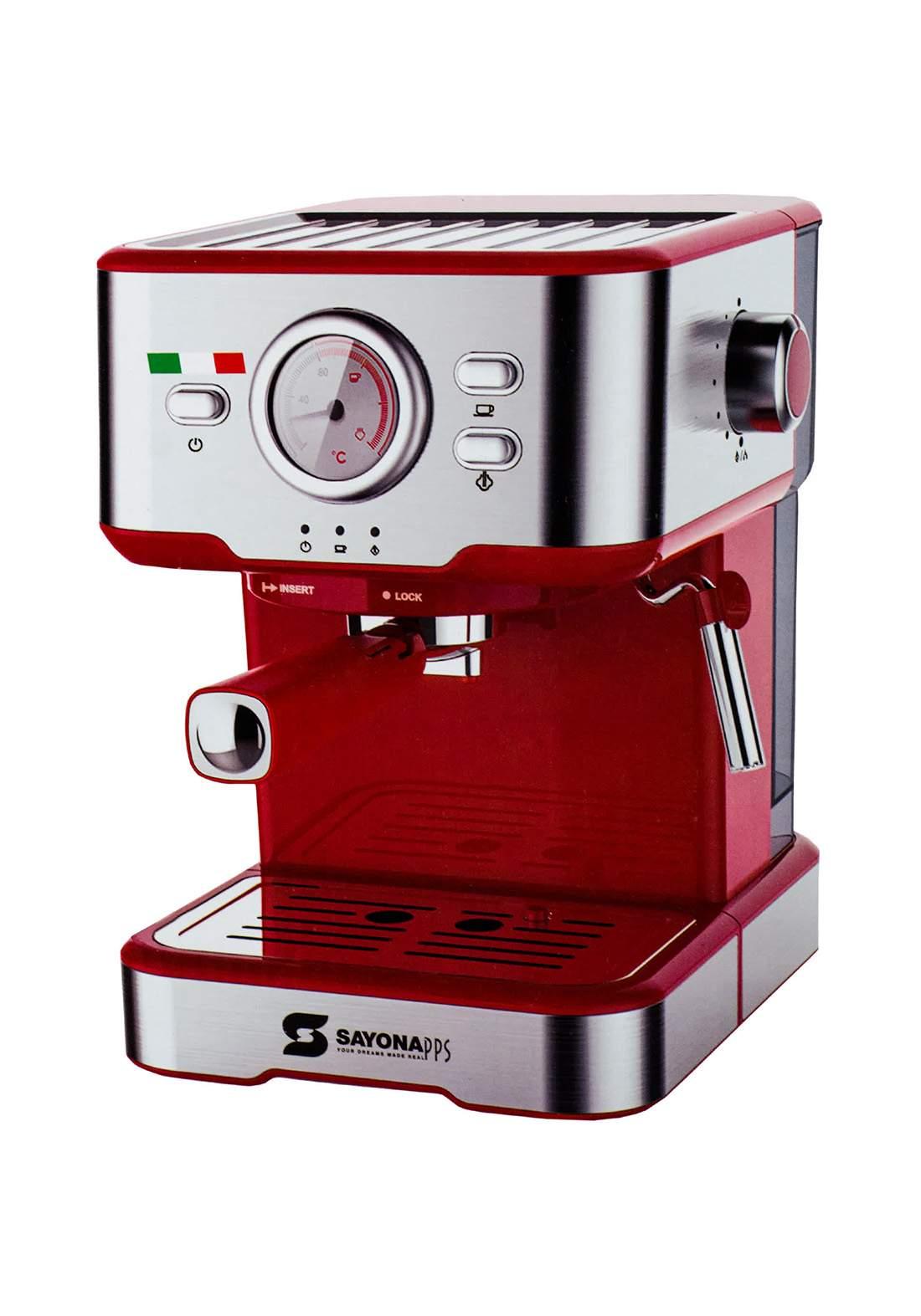 Sayona 4316 Coffee Machine 1100 Watt ماكنة صنع قهوة