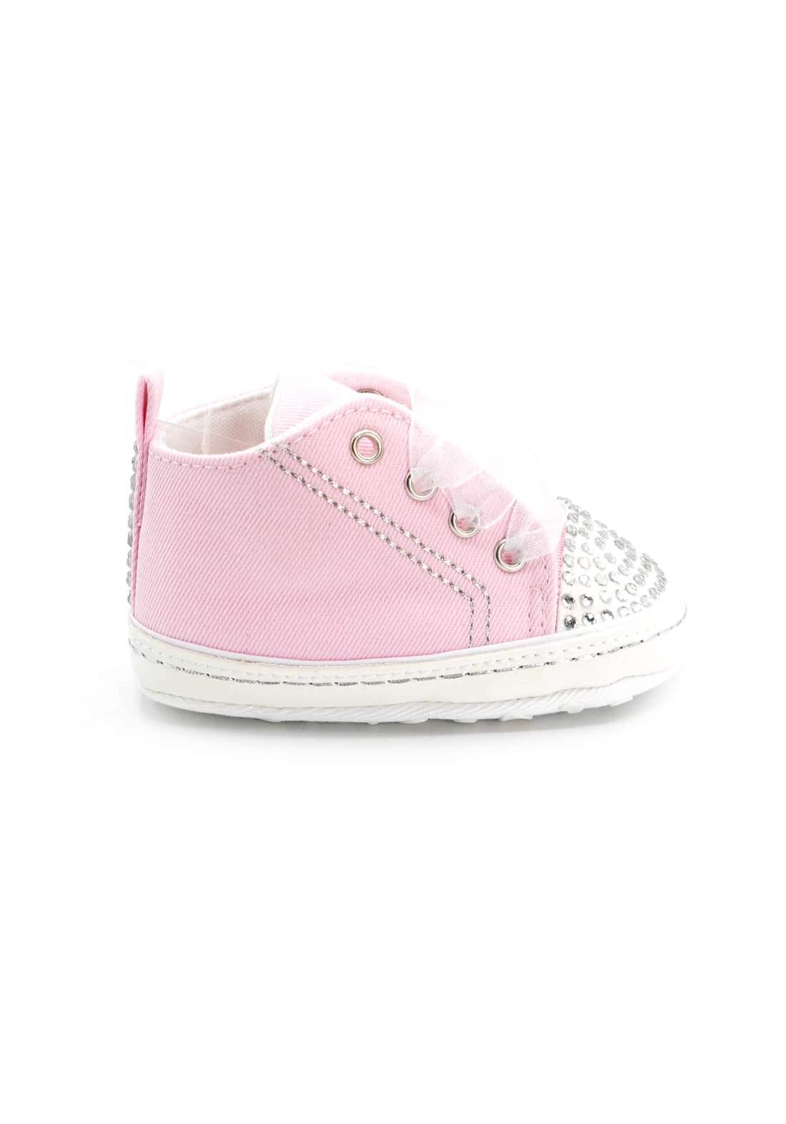 حذاء اطفال وردي اللون
