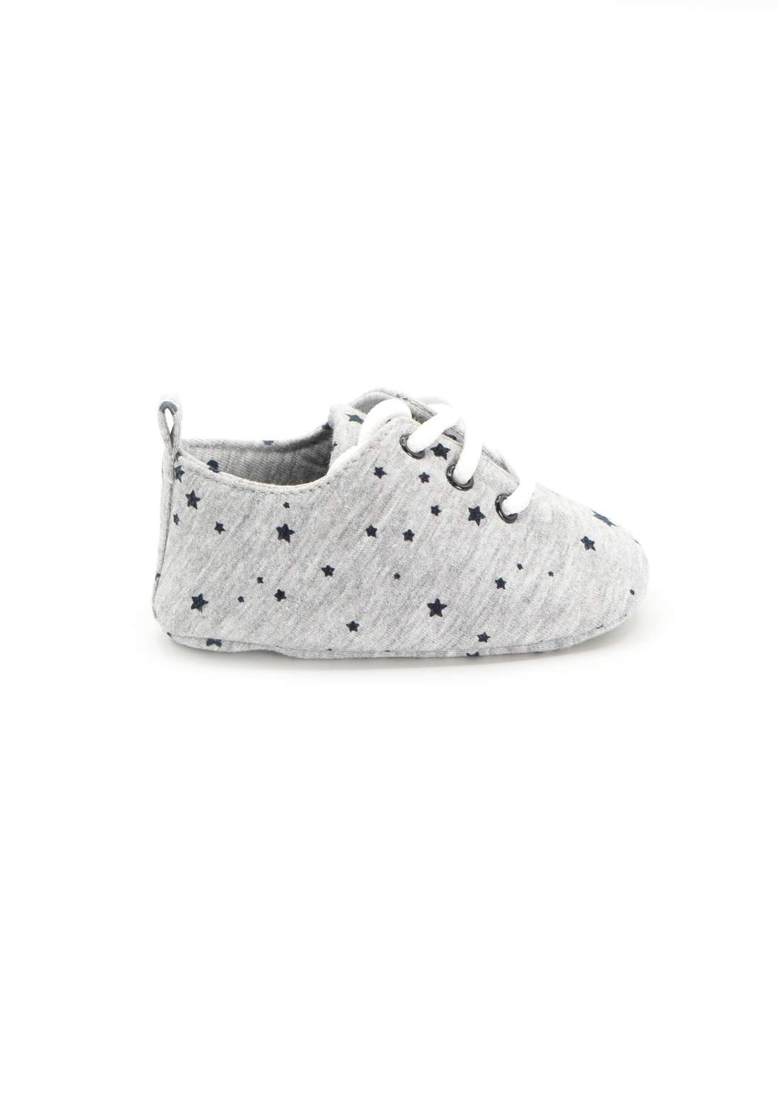 حذاء اطفال رصاصي اللون