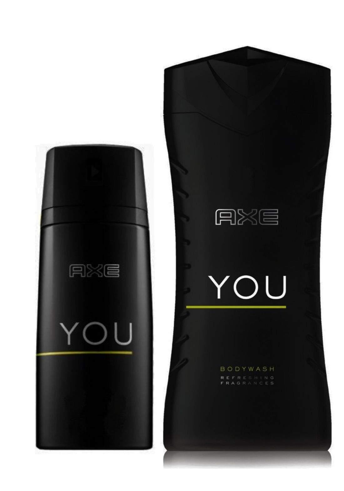 AXE YOU Body Spray And Body Wash set سيت العناية للرجل