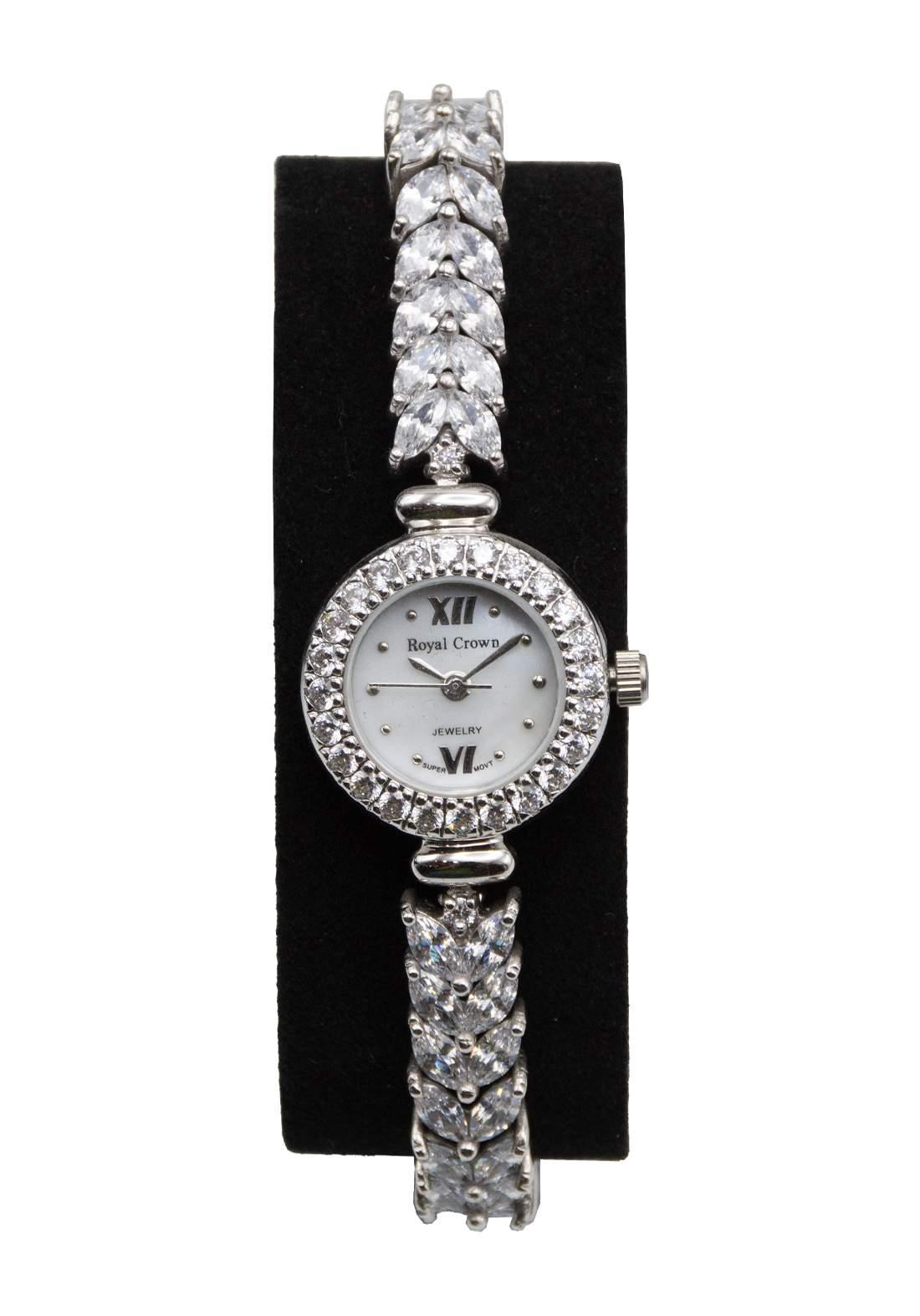 ساعة رويال كراون Royal crown نسائية فضة عيار 928