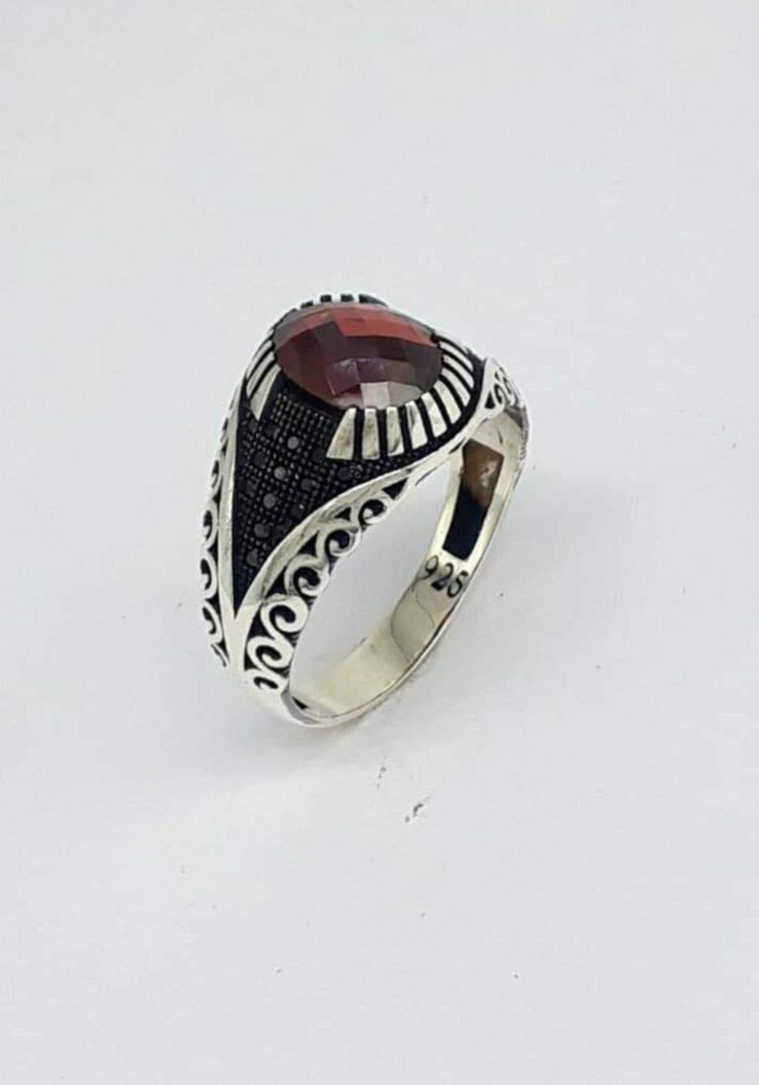 خاتم رجالي  فضة عيار 925 صياغة ايطالية