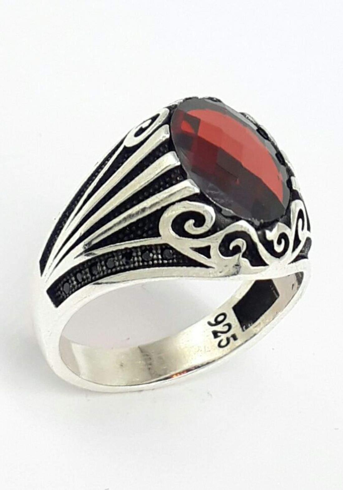 خاتم رجالي  فضة عيار 925 صياغة تركية