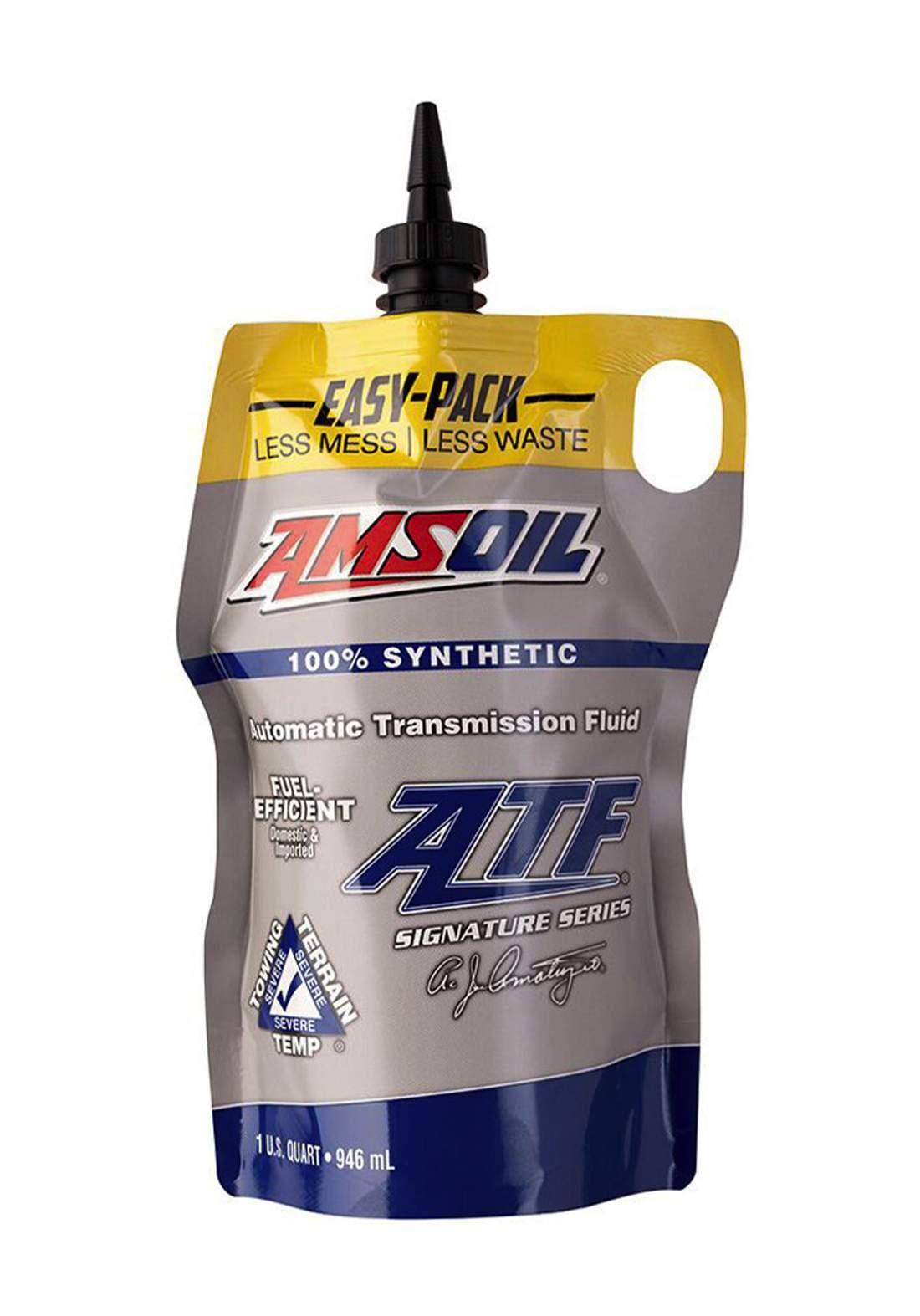 AMSOil Fuel-Efficient Synthetic Automatic Transmission Fluid (ATF) 946 ml سائل ناقل الحركة الأوتوماتيكي
