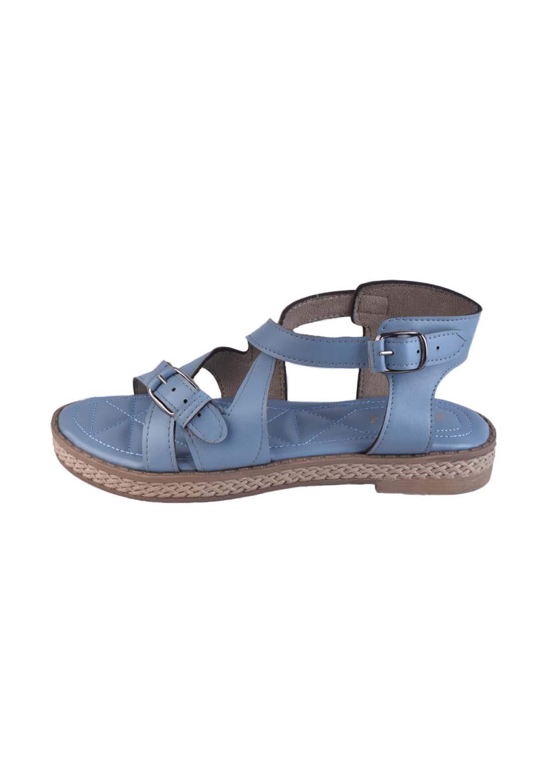 حذاء نسائي ازرق اللون