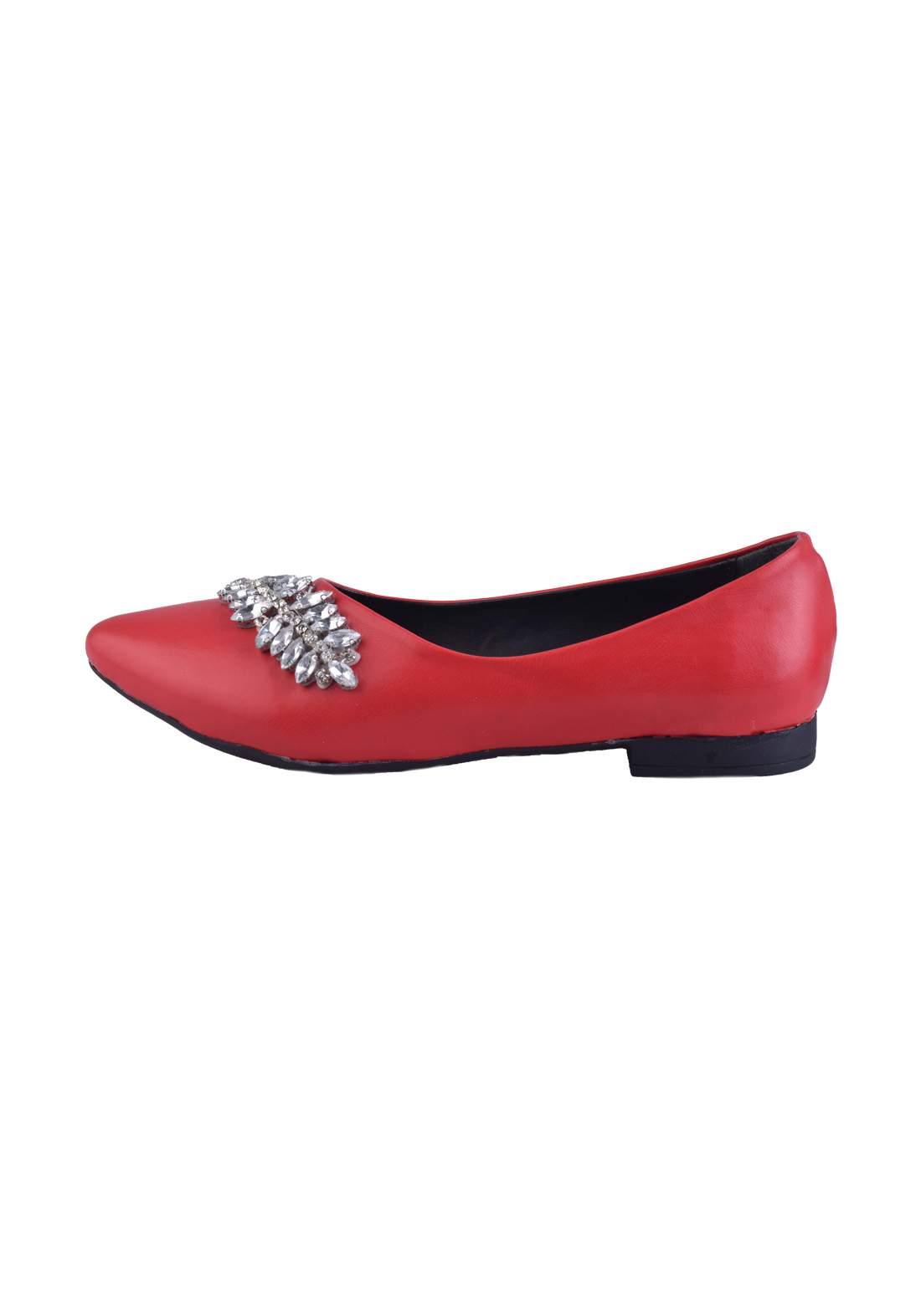 حذاء نسائي  احمر اللون