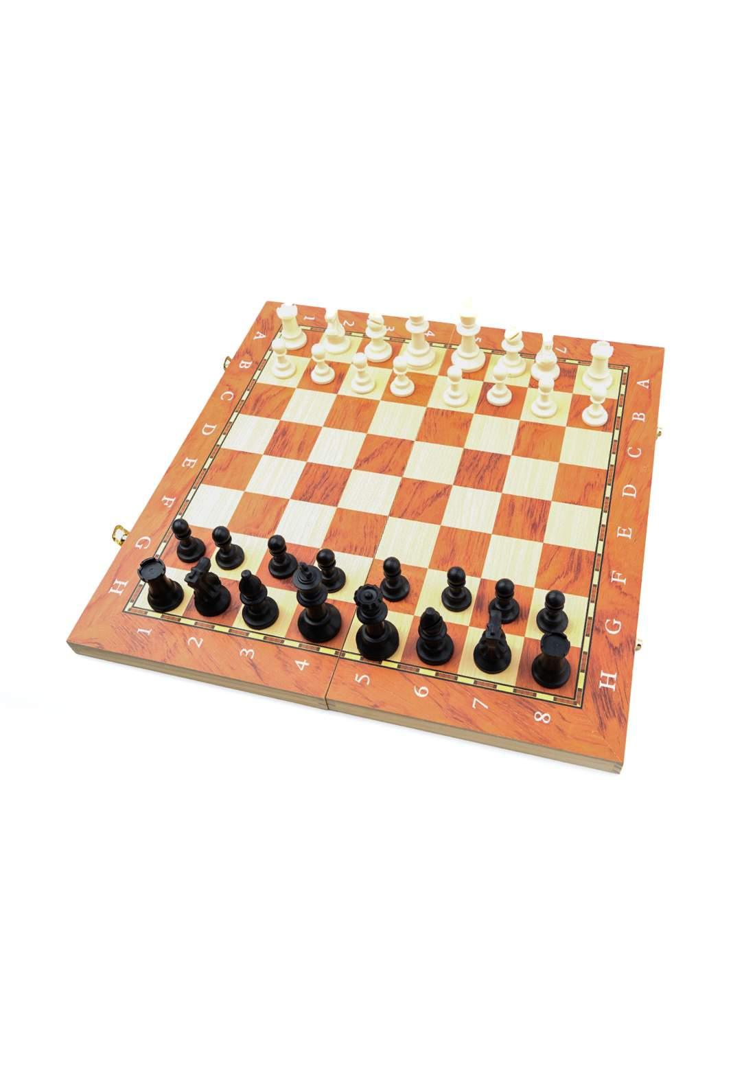 Foldable Wooden Chess Set مجموعة لوح الشطرنج الخشبي