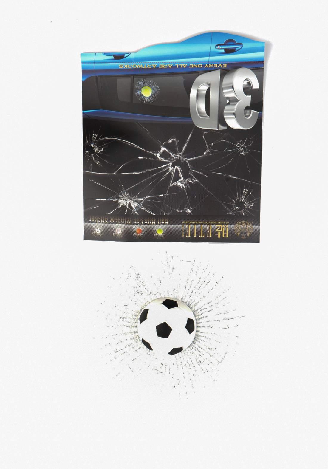 ملصق كرة قدم كسر زجاج نافذة السيارة ثلاثي الأبعاد