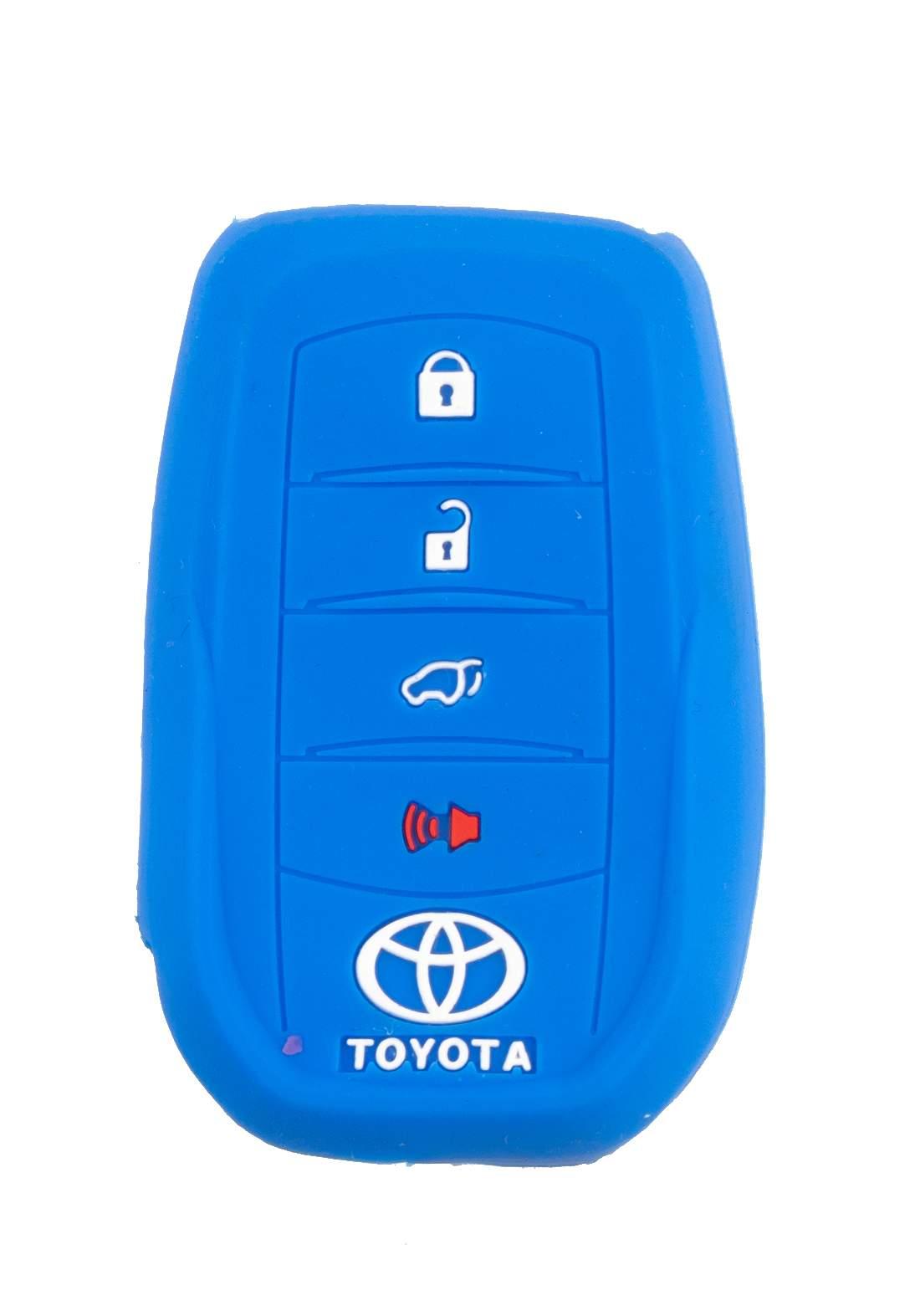 غلاف مفتاح سيارة ذكي (بصمة) تويوتا ازرق اللون
