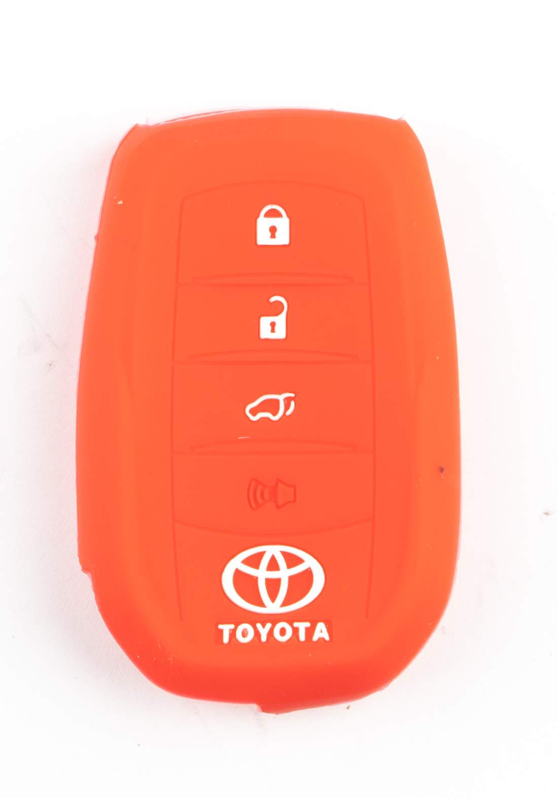 غلاف مفتاح سيارة ذكي (بصمة)  تويوتا احمر اللون