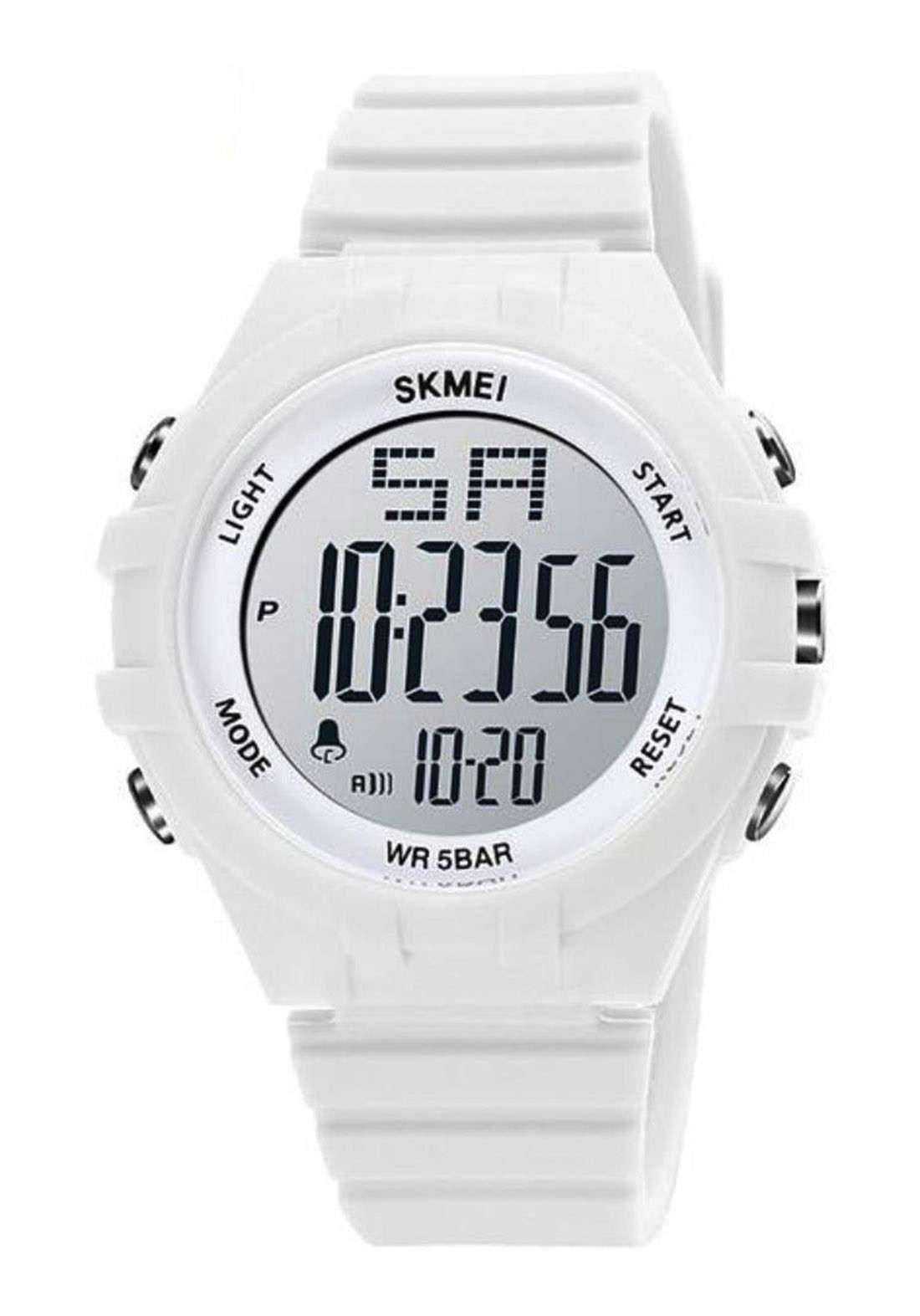 ساعة يد رجالية   بيضاء اللونSKMEI 1715 رقمية