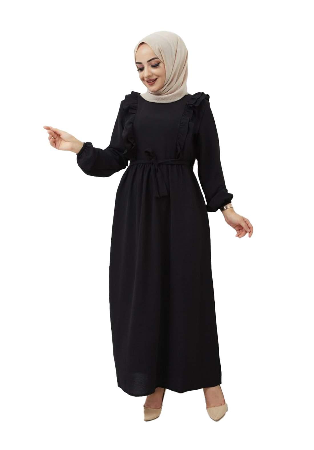 فستان نسائي طويل أسود أللون