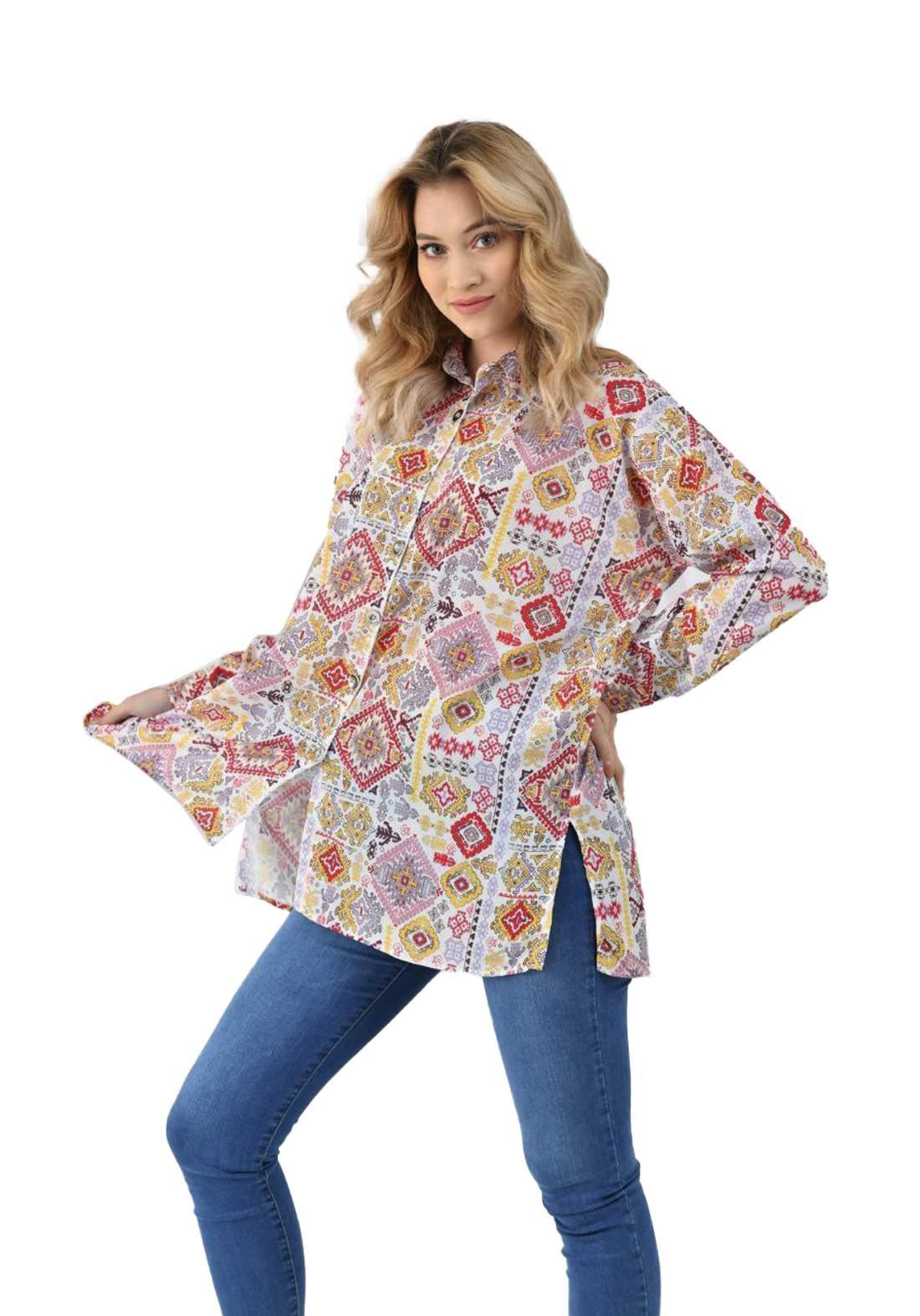قميص نسائي متعدد ألألوان