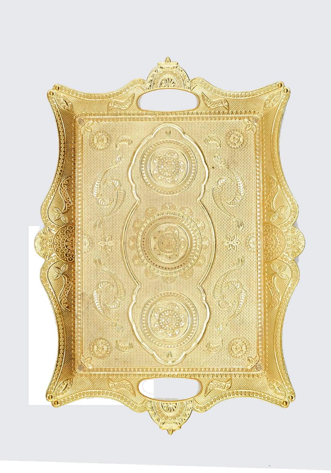 صينية تقديم ذهبية اللون