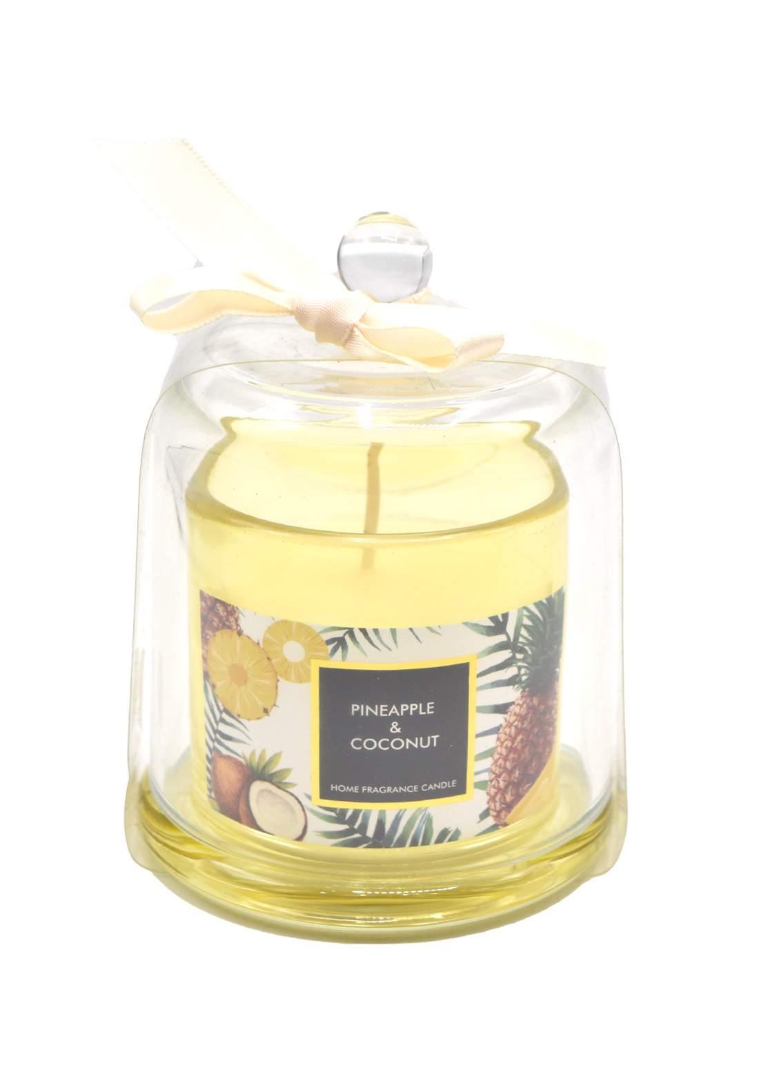 Home Fragrance Candle Pineapple and Coconut شمعة عطرية بعطر الاناناس وجوز الهند