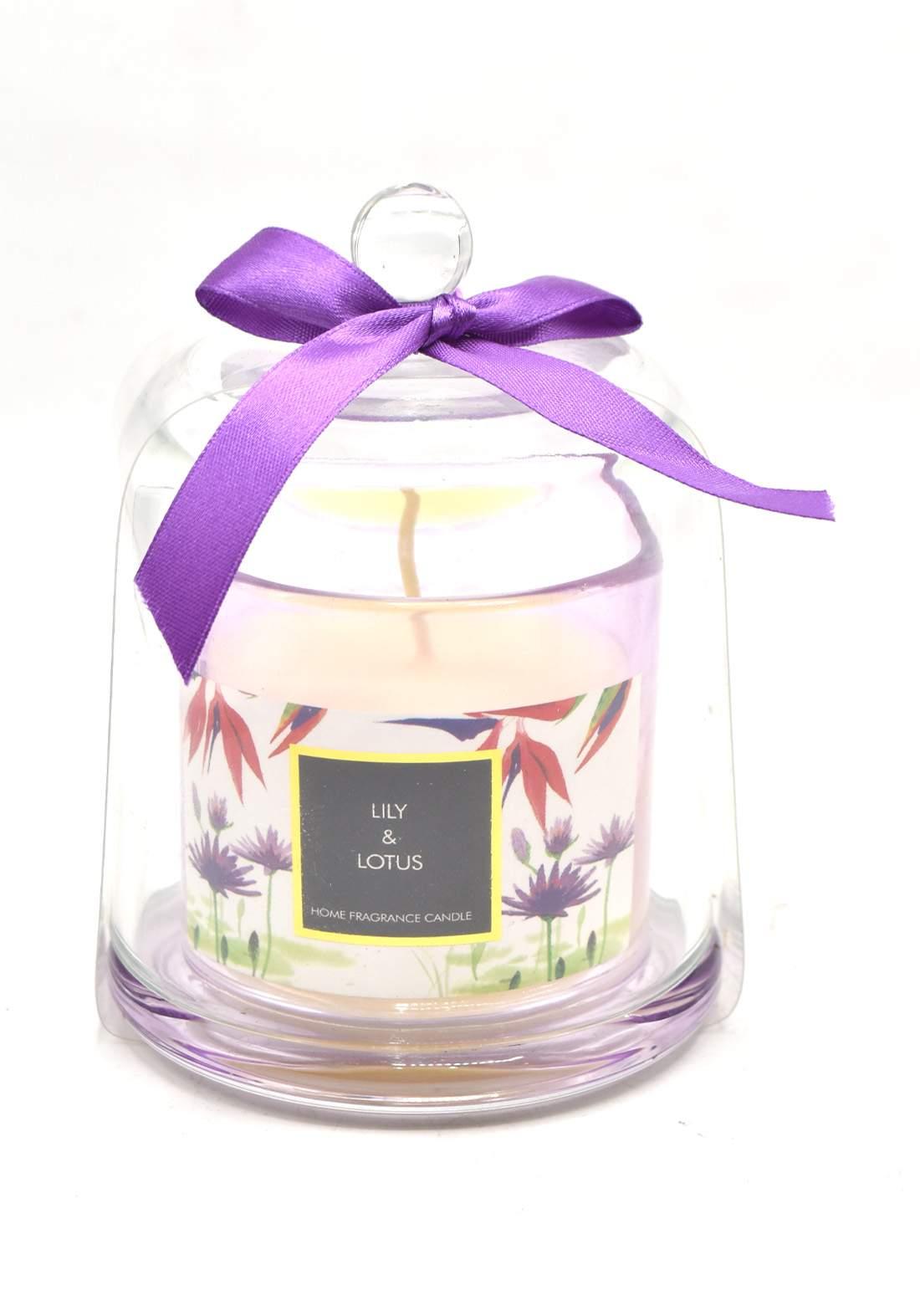Home Fragrance Candle Lily and Lotus شمعة عطرية عطر زهرة اللوتس