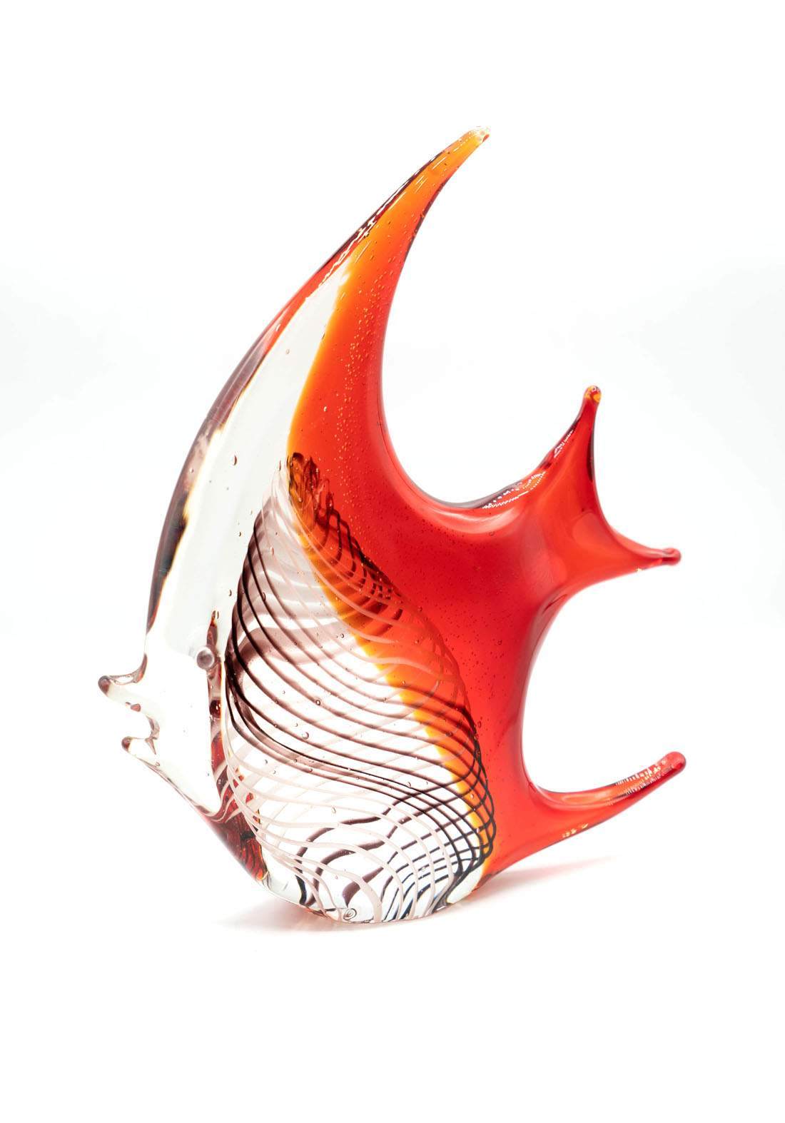 فازة زجاجية ديكور سمكة
