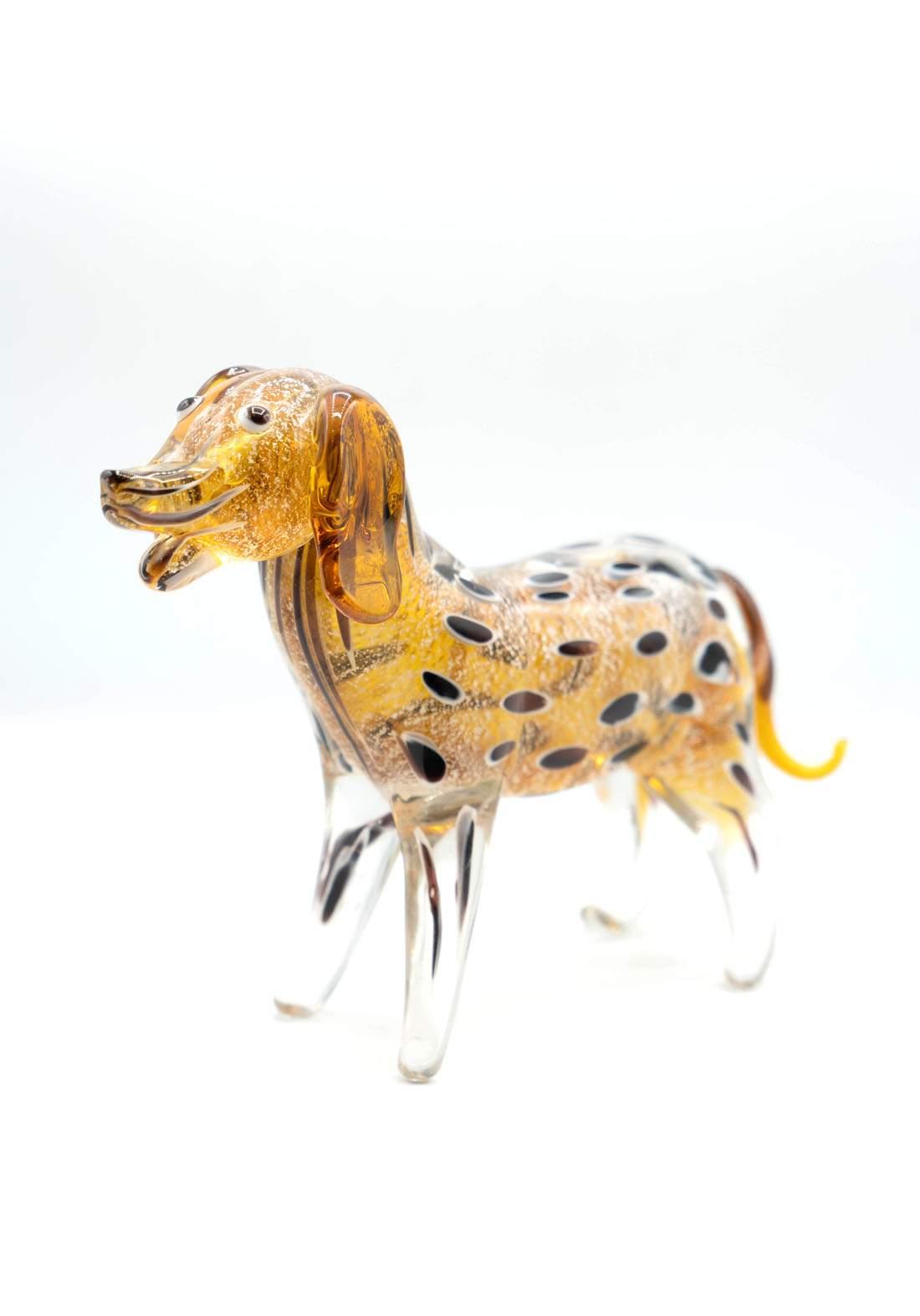 فازة زجاجية ديكور كلب