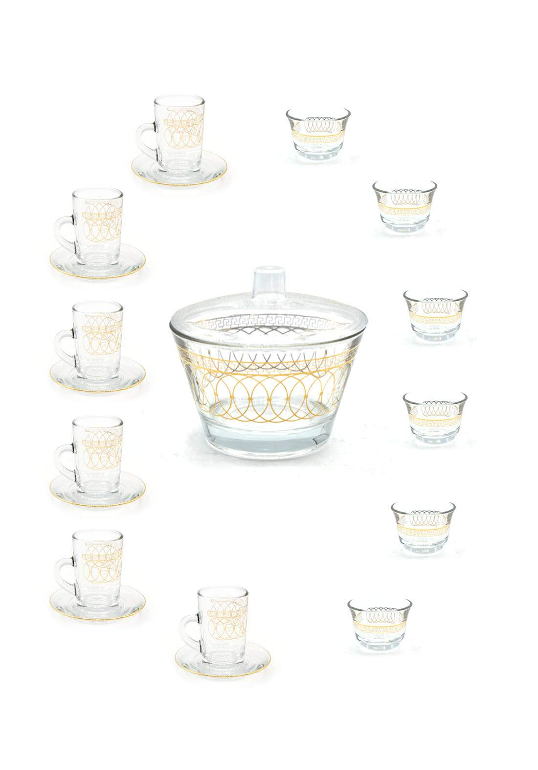 سيت شاي مع قهوة 13 قطعة من دملاج