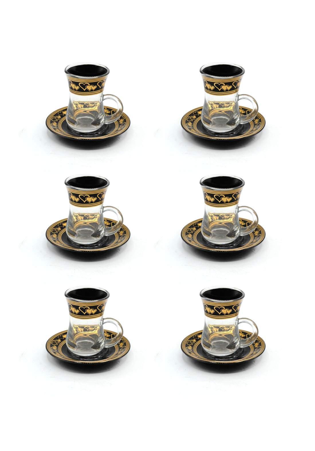 سيت فناجين شاي بنقشات جميلة
