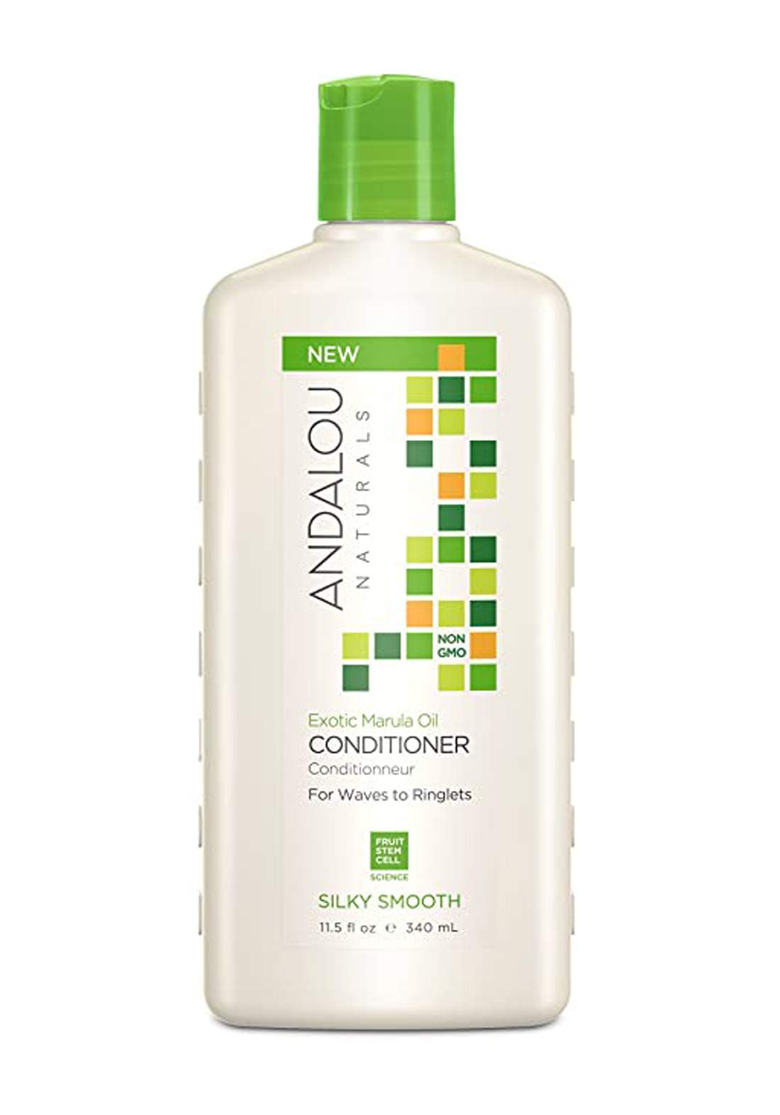 27124 Andalou Naturals Exotic Marula Oil Silky Smooth Conditioner 340ml بلسم للشعر